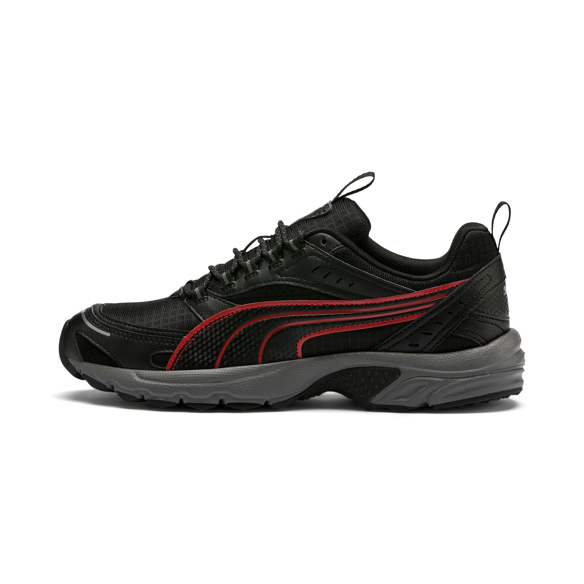 Thumbnail 1 of Axis Trail Sneakers, Black-High Risk Red-Silver, medium