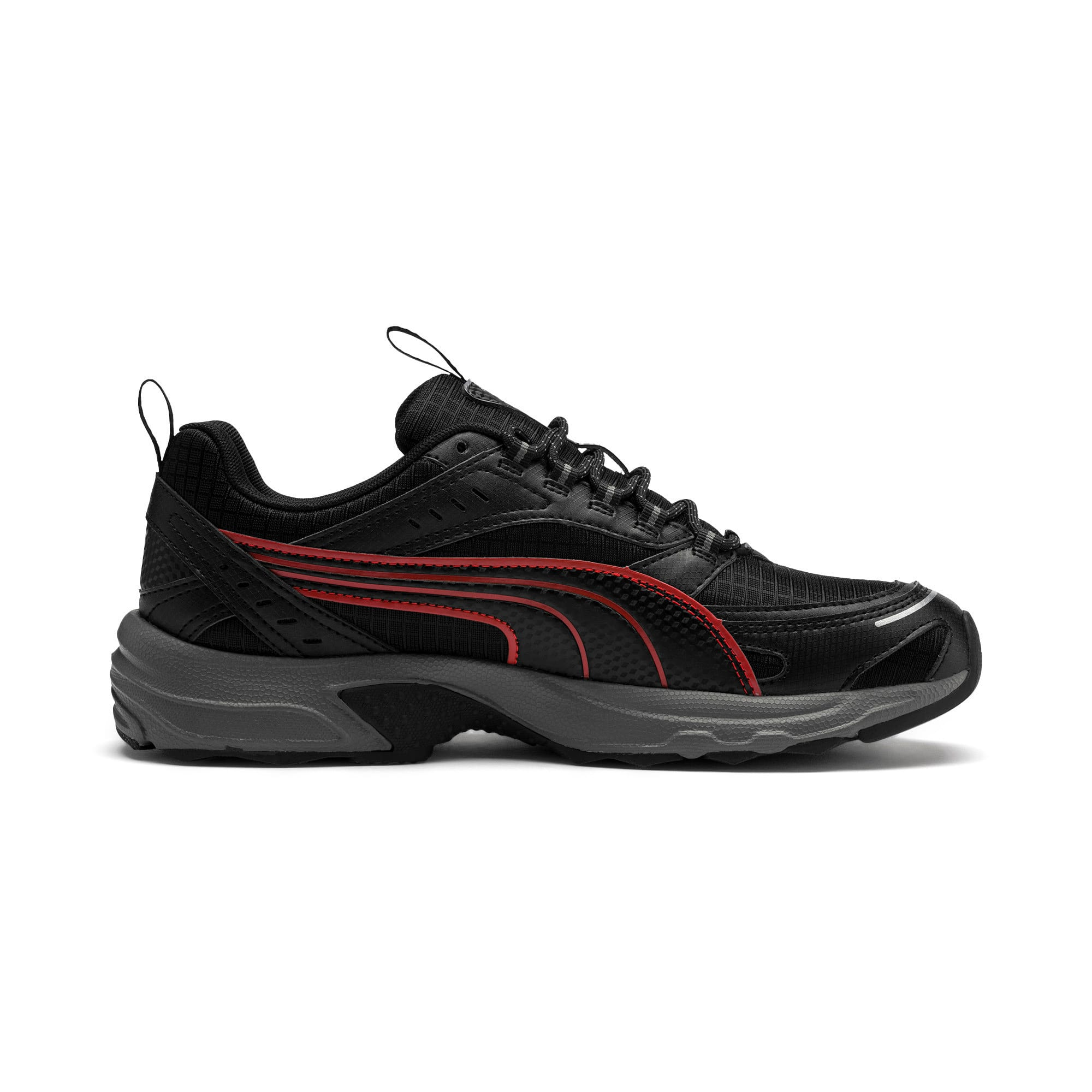 Thumbnail 6 of Axis Trail Sneakers, Black-High Risk Red-Silver, medium