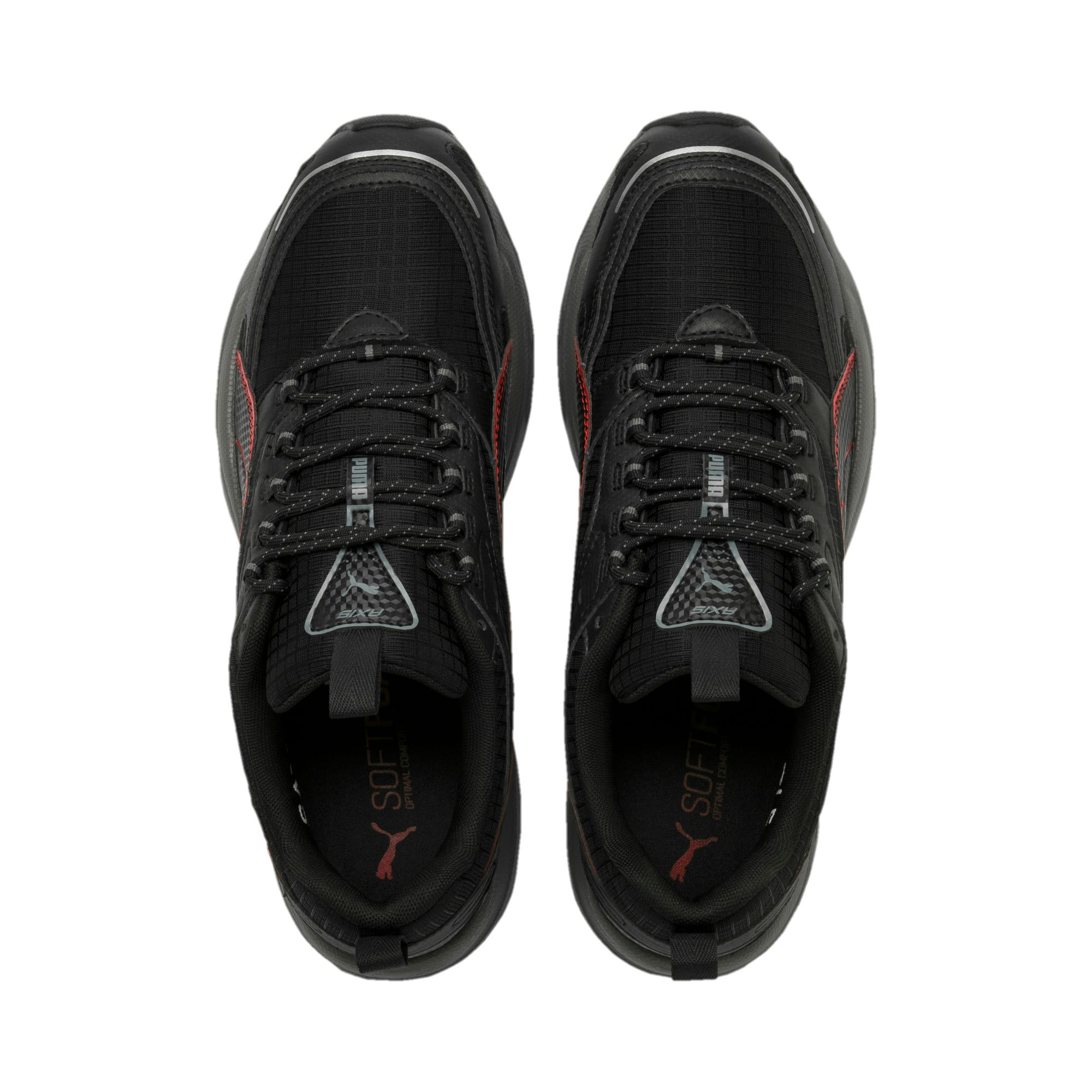 Thumbnail 7 of Axis Trail Sneakers, Black-High Risk Red-Silver, medium