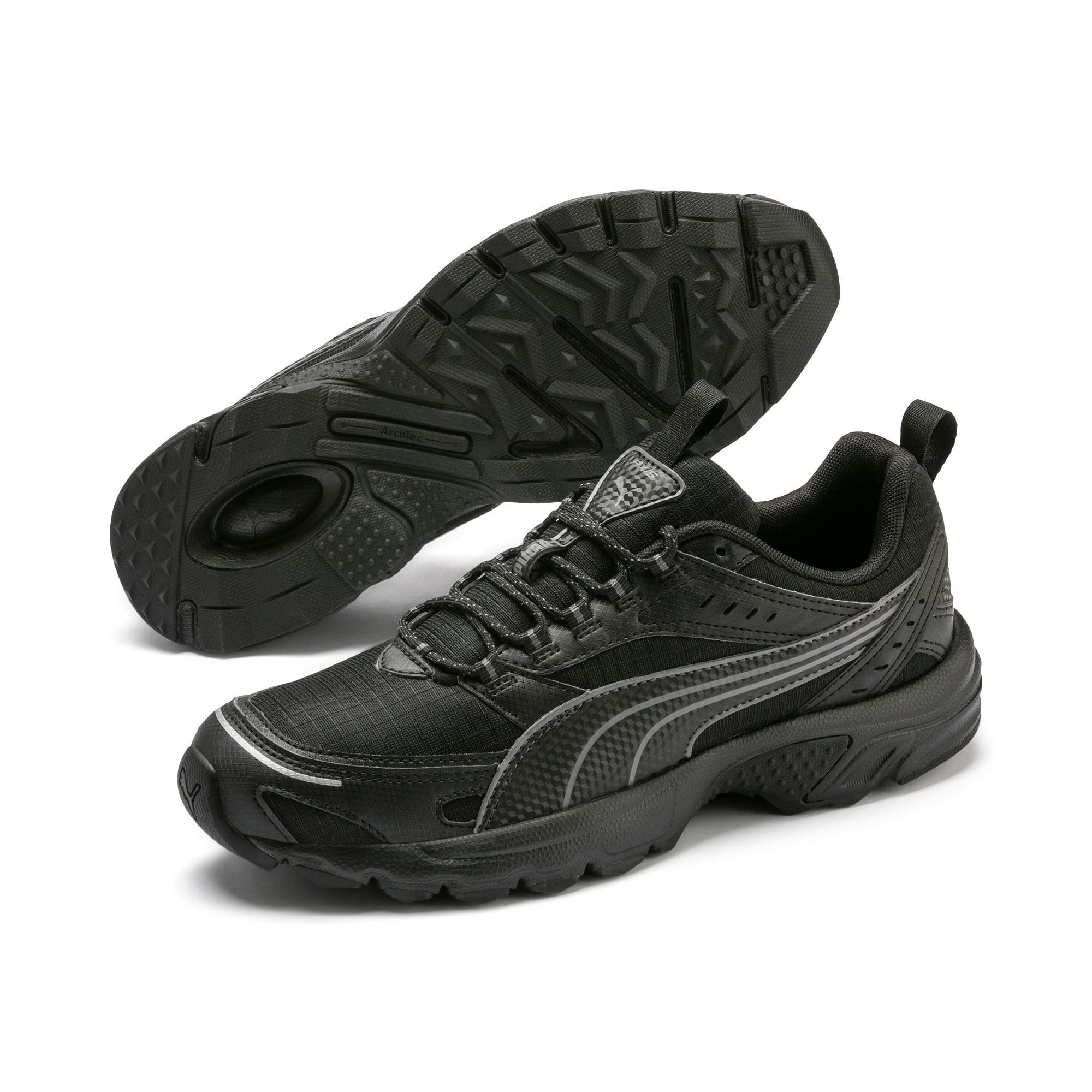 Thumbnail 3 of Axis Trail Sneakers, Puma Black-CASTLEROCK-Silver, medium