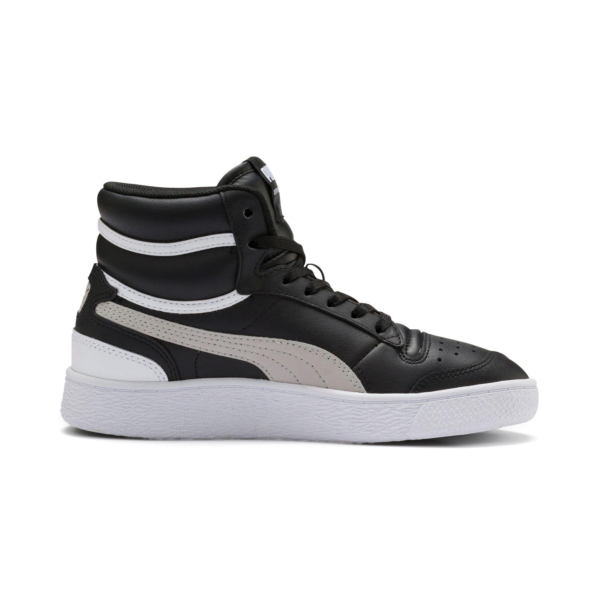 Thumbnail 5 of Ralph Sampson Mid Sneakers JR, Black-Gray Violet-White, medium