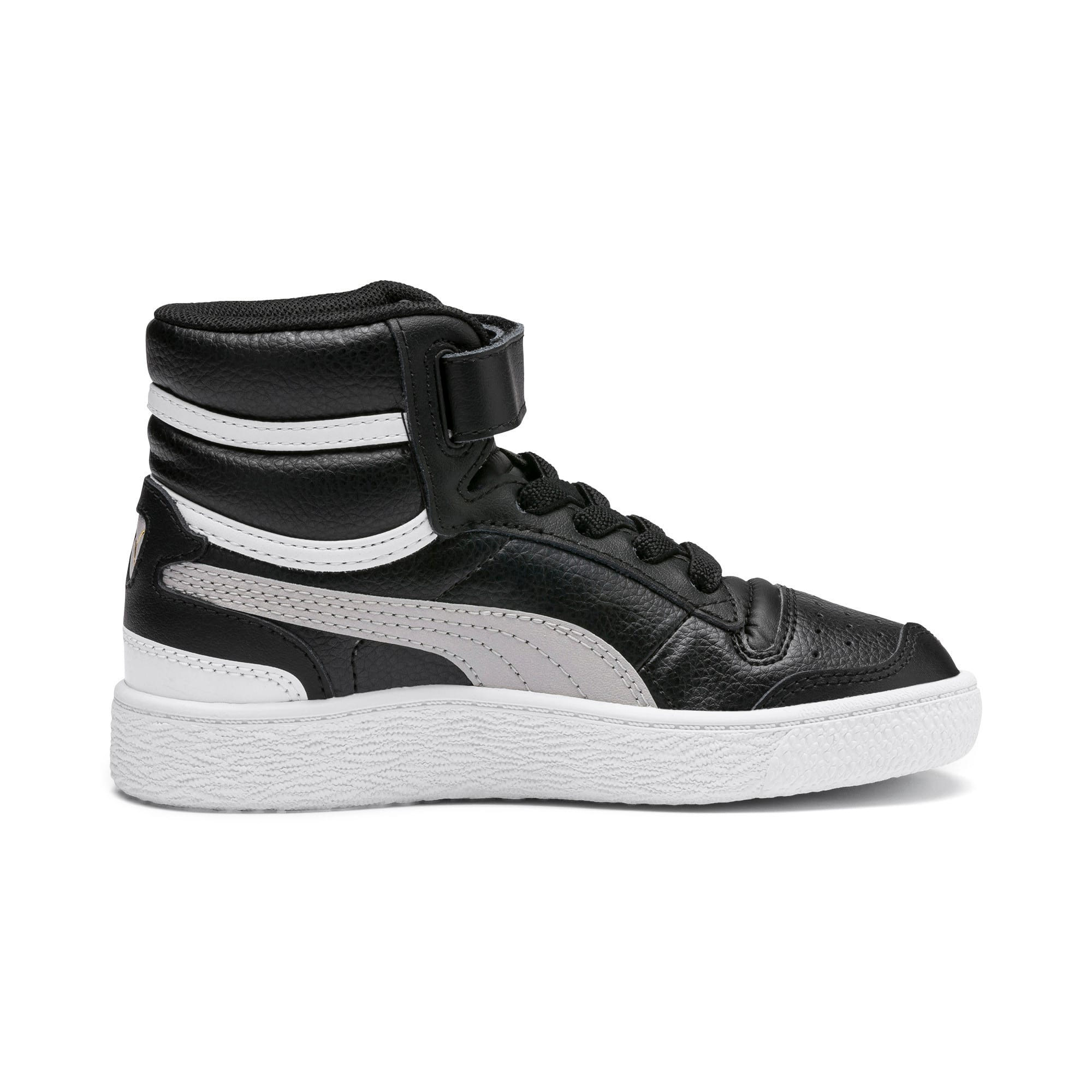 Thumbnail 5 of Ralph Sampson Mid Kids' Trainers, Black-Gray Violet-White, medium