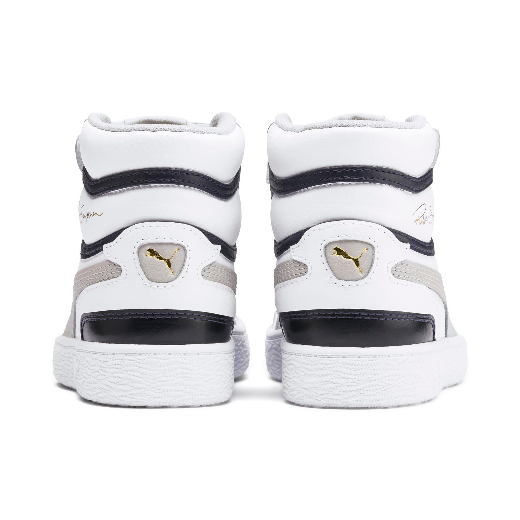 Thumbnail 3 of Ralph Sampson Mid Kids Sneaker, White-Gray Violet-Peacoat, medium