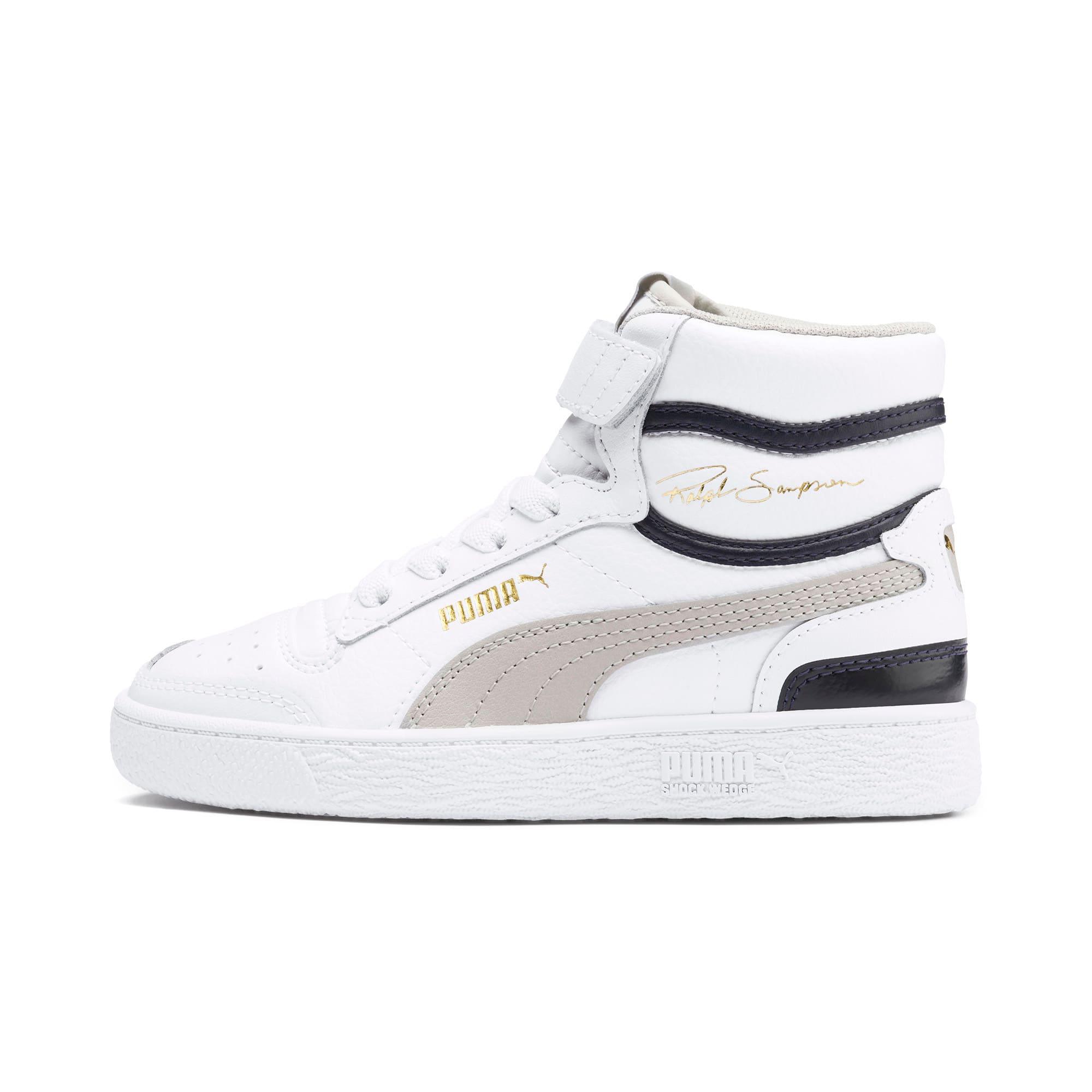 Thumbnail 1 of Ralph Sampson Mid Kids Sneaker, White-Gray Violet-Peacoat, medium