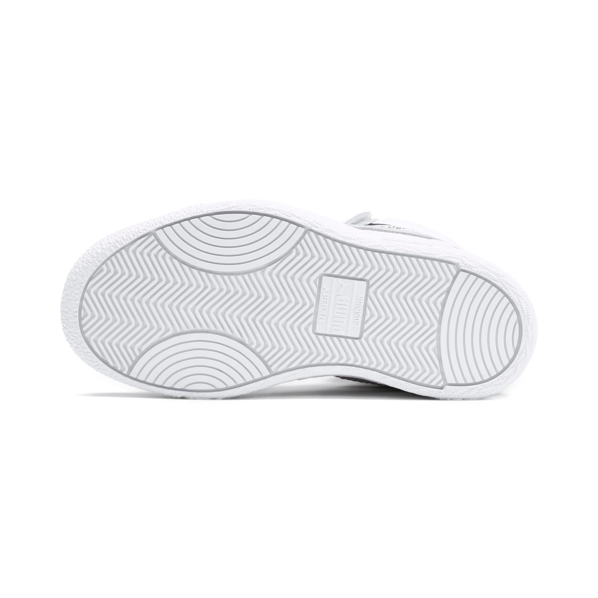 Thumbnail 4 of Ralph Sampson Mid Kids Sneaker, White-Gray Violet-Peacoat, medium