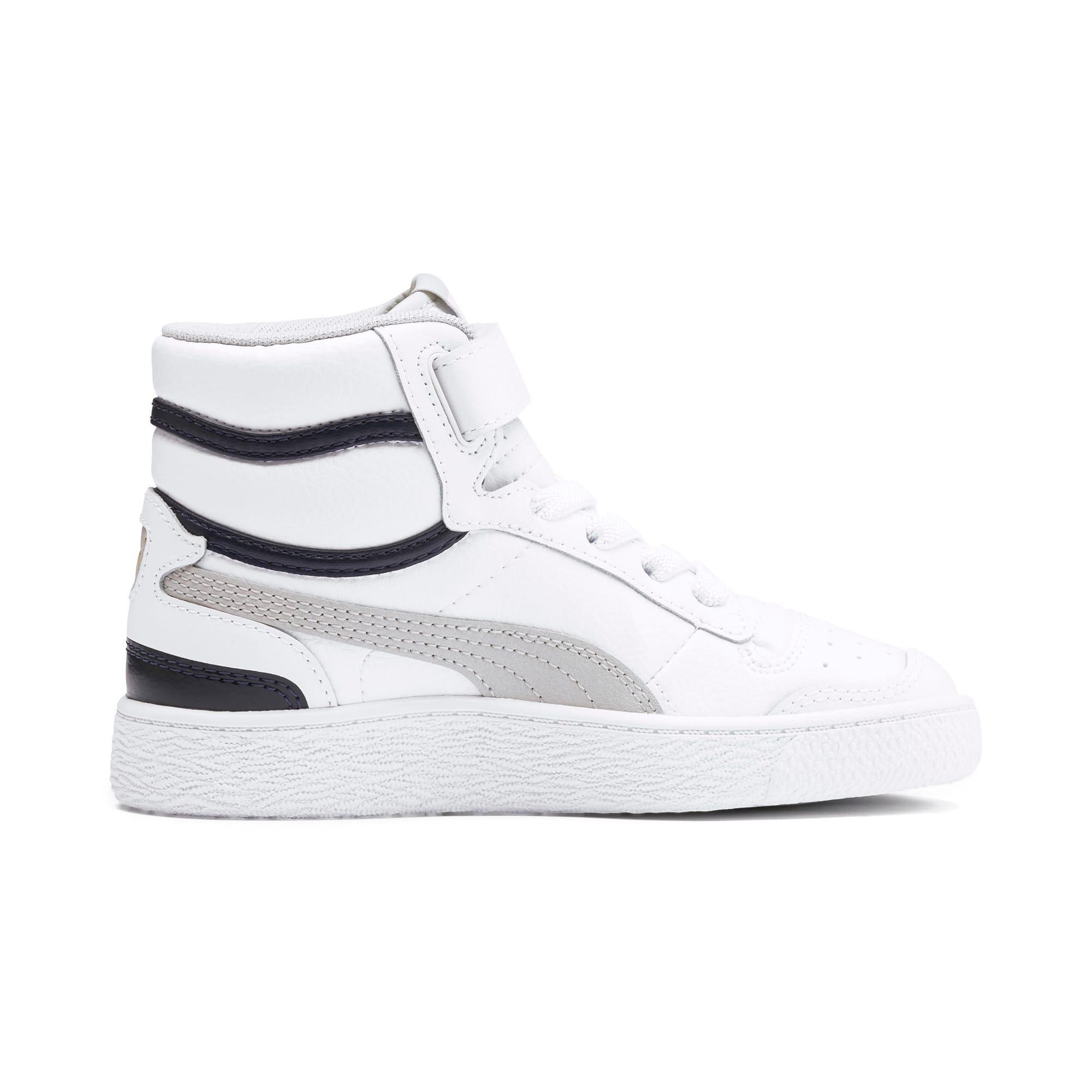 Thumbnail 5 of Ralph Sampson Mid Kids Sneaker, White-Gray Violet-Peacoat, medium