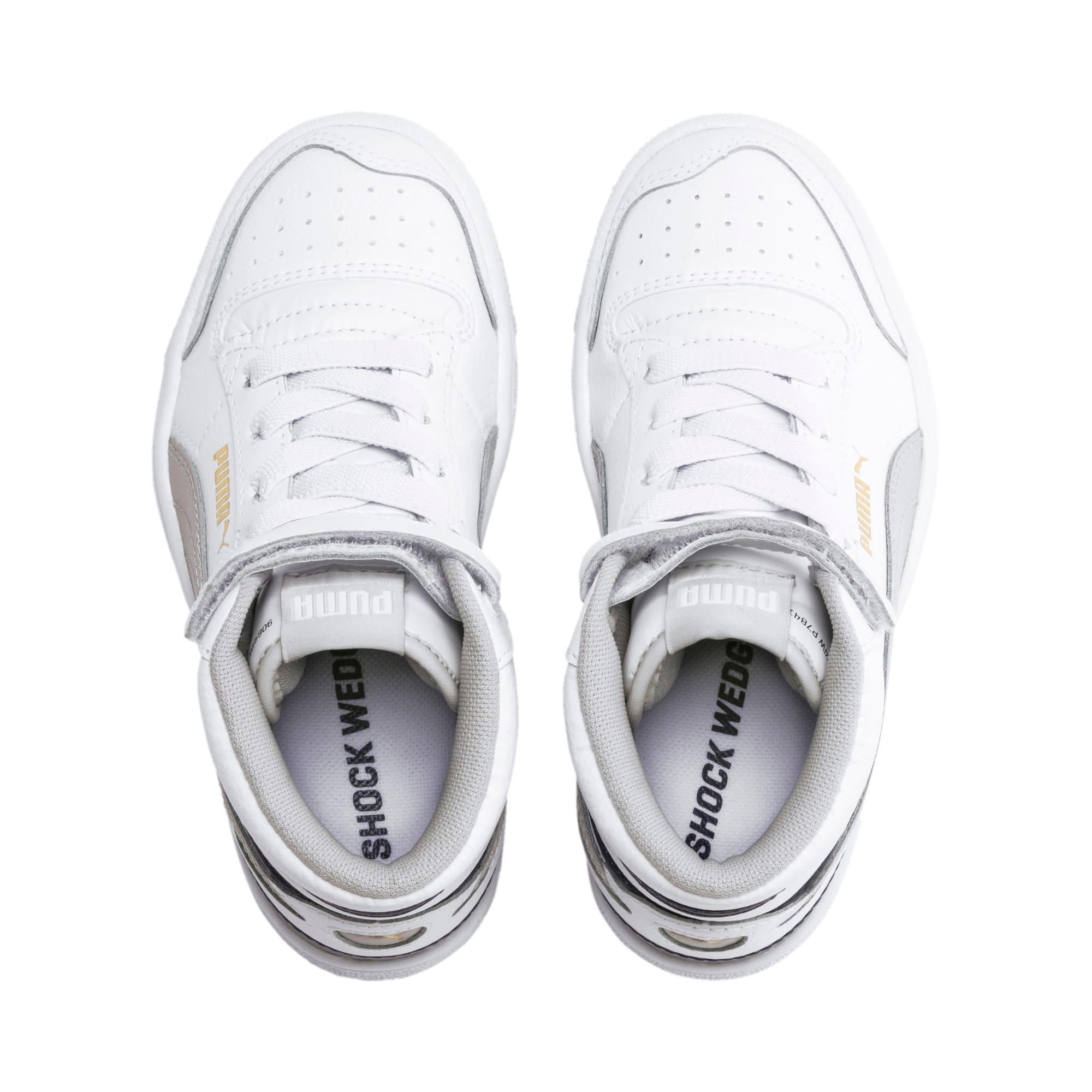 Thumbnail 6 of Ralph Sampson Mid Kids Sneaker, White-Gray Violet-Peacoat, medium