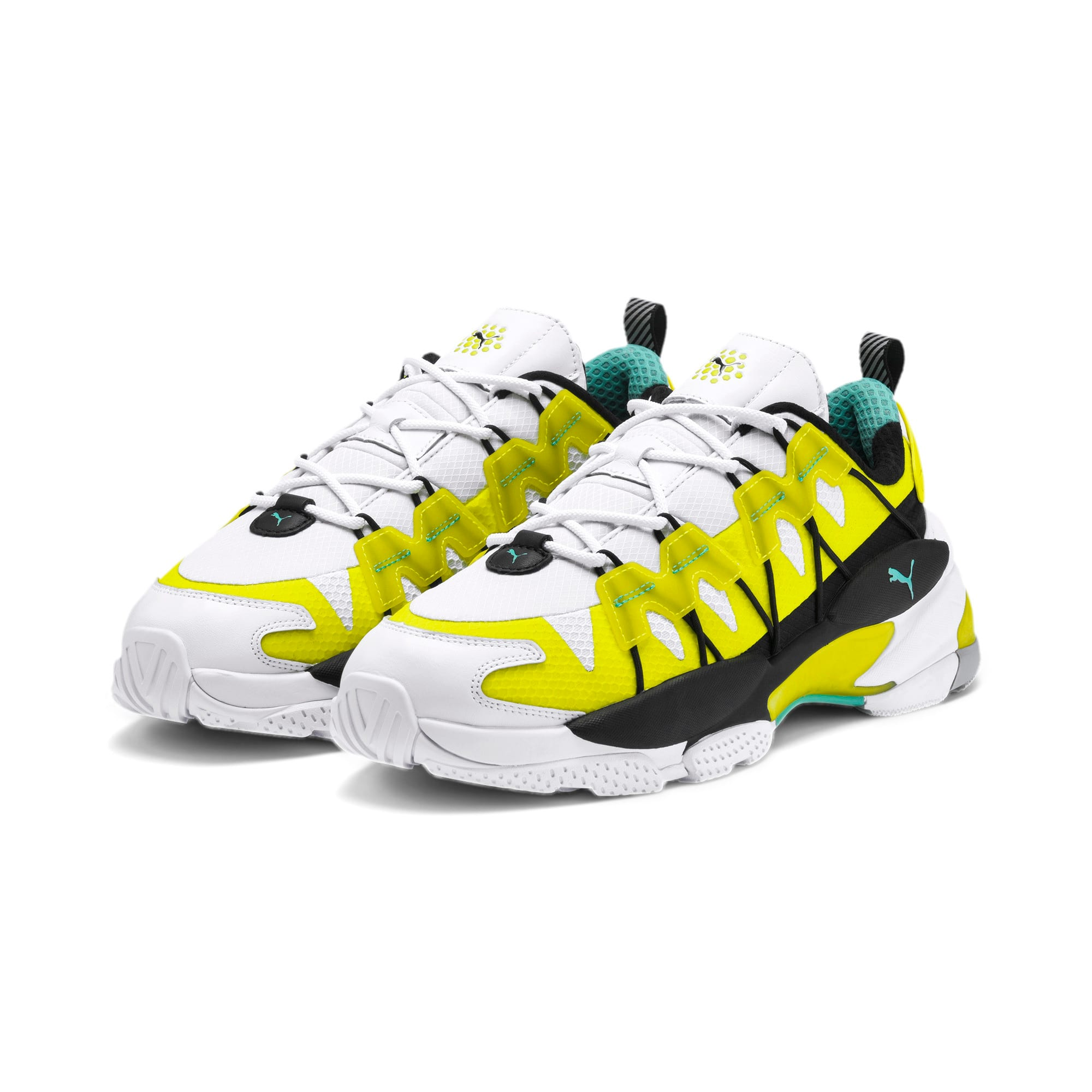 Thumbnail 2 of LQDCELL Omega Lab Sneaker, Puma White-Yellow Alert, medium