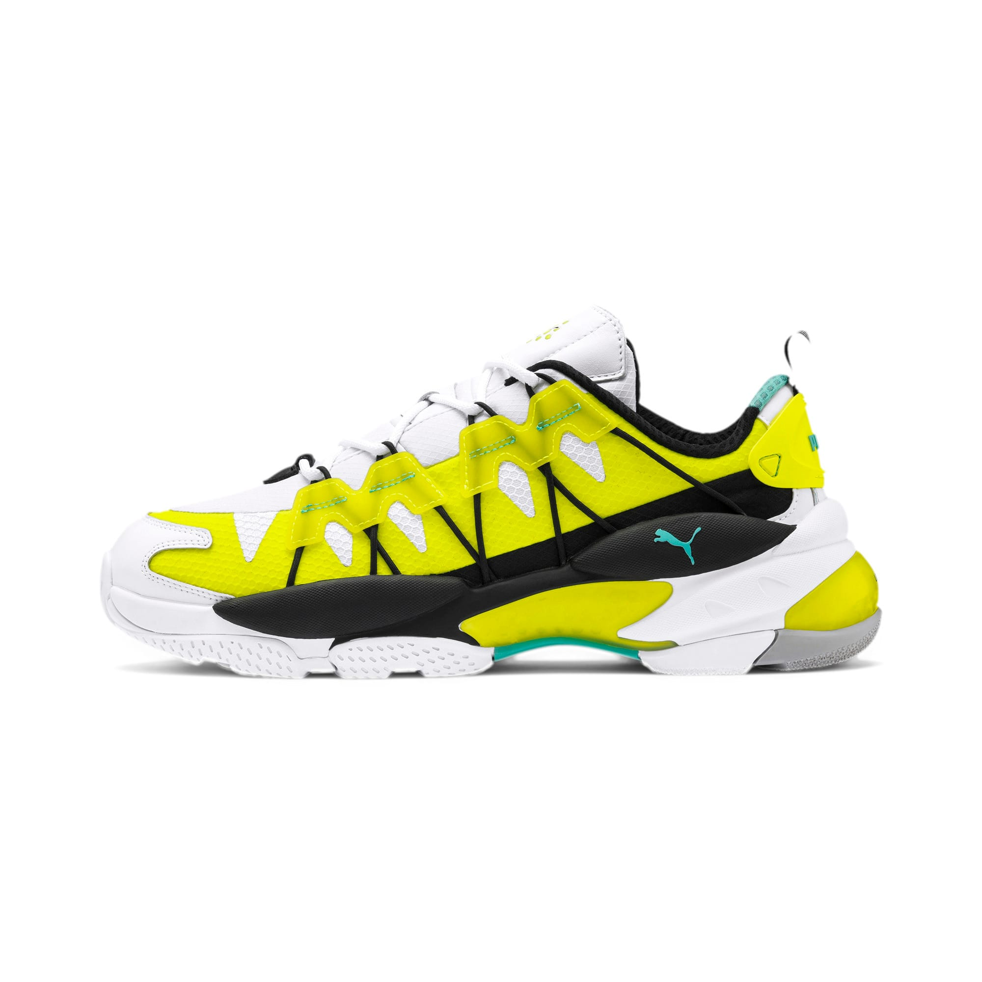 Thumbnail 1 of LQDCELL Omega Lab Sneaker, Puma White-Yellow Alert, medium