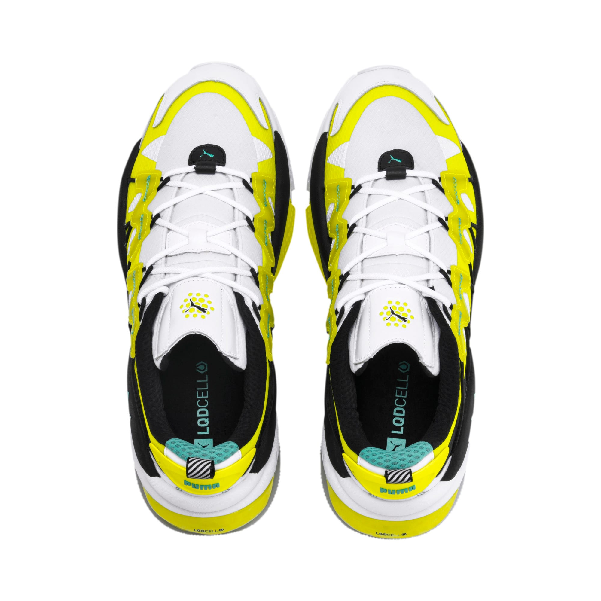 Thumbnail 6 of LQDCELL Omega Lab Sneaker, Puma White-Yellow Alert, medium