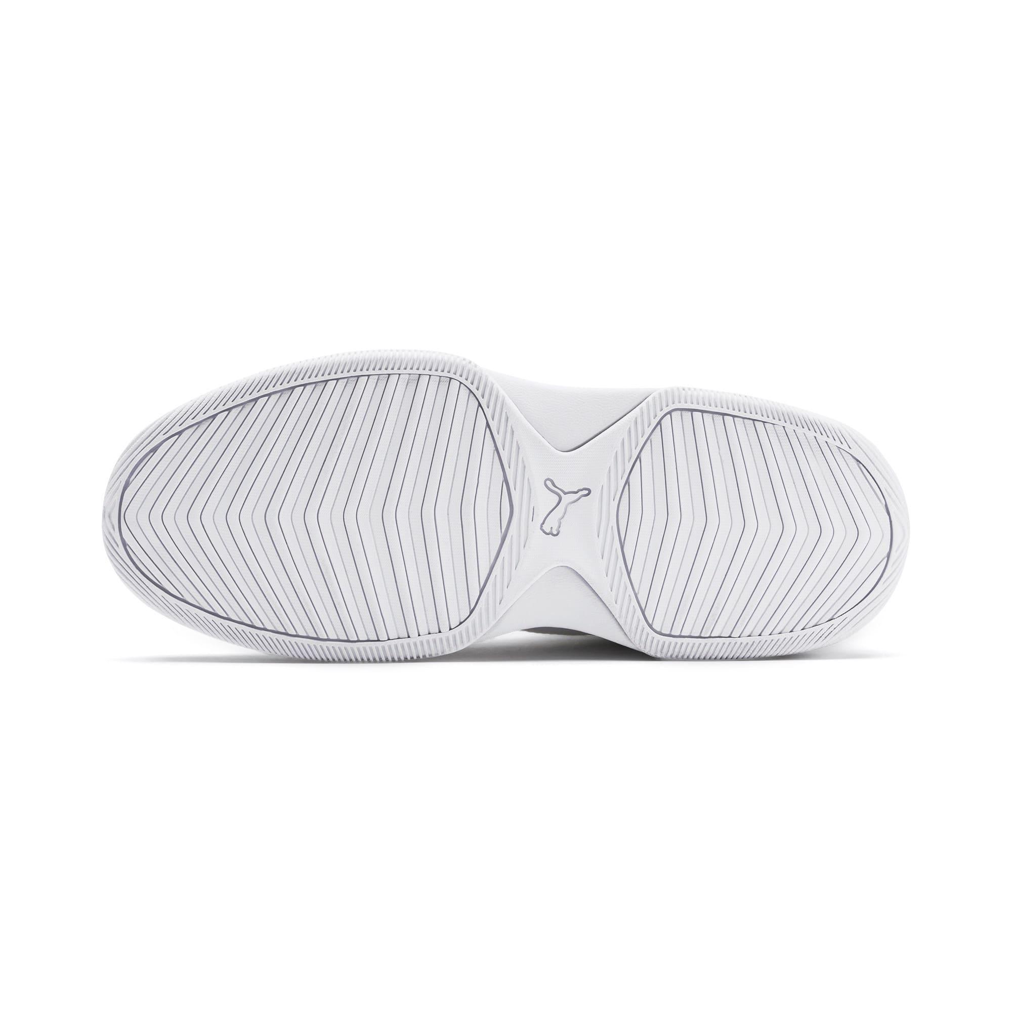 Thumbnail 4 of PUMA Rebound Playoff SL Sneakers JR, Puma White-Puma Silver, medium