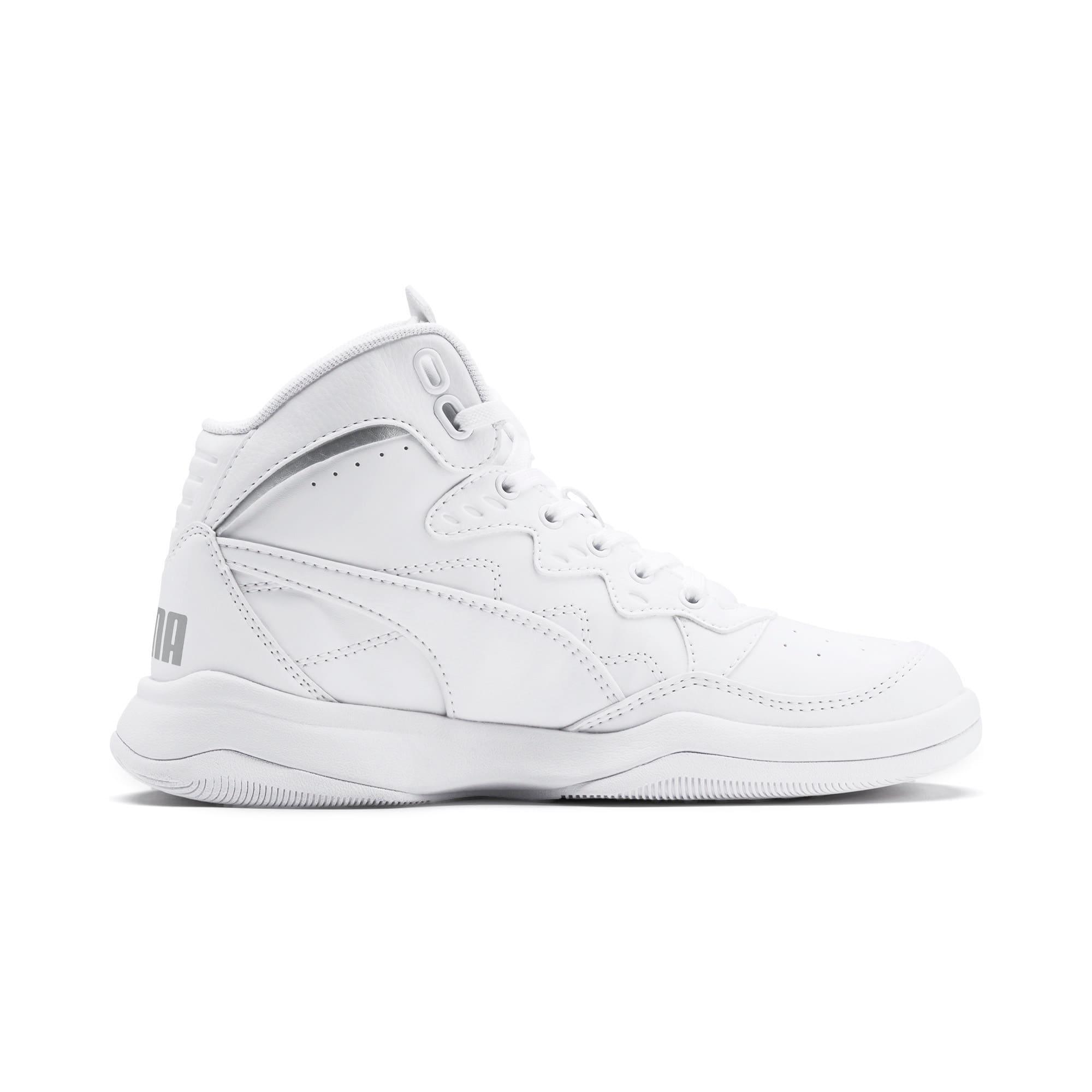Thumbnail 5 of PUMA Rebound Playoff SL Sneakers JR, Puma White-Puma Silver, medium