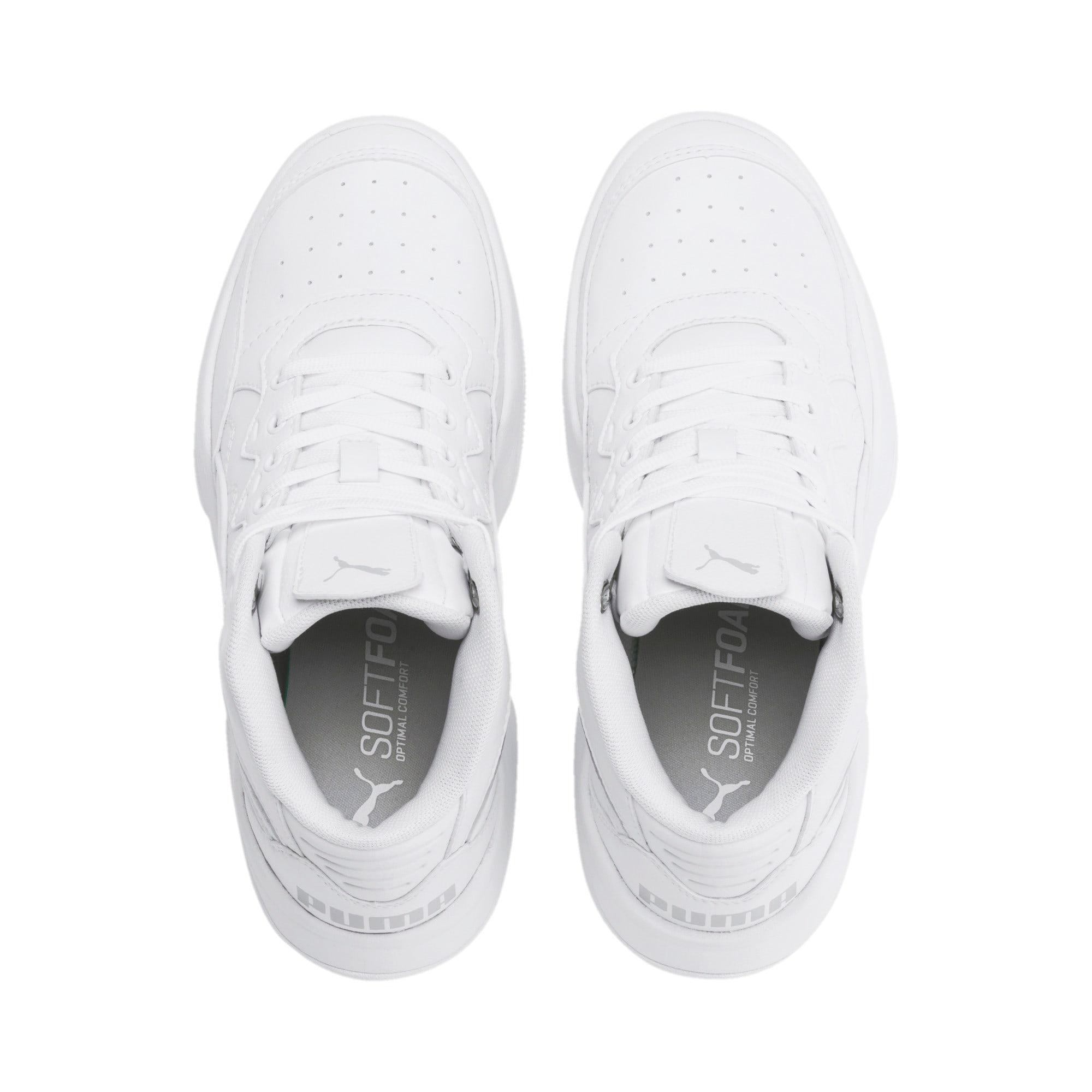Thumbnail 6 of PUMA Rebound Playoff SL Sneakers JR, Puma White-Puma Silver, medium