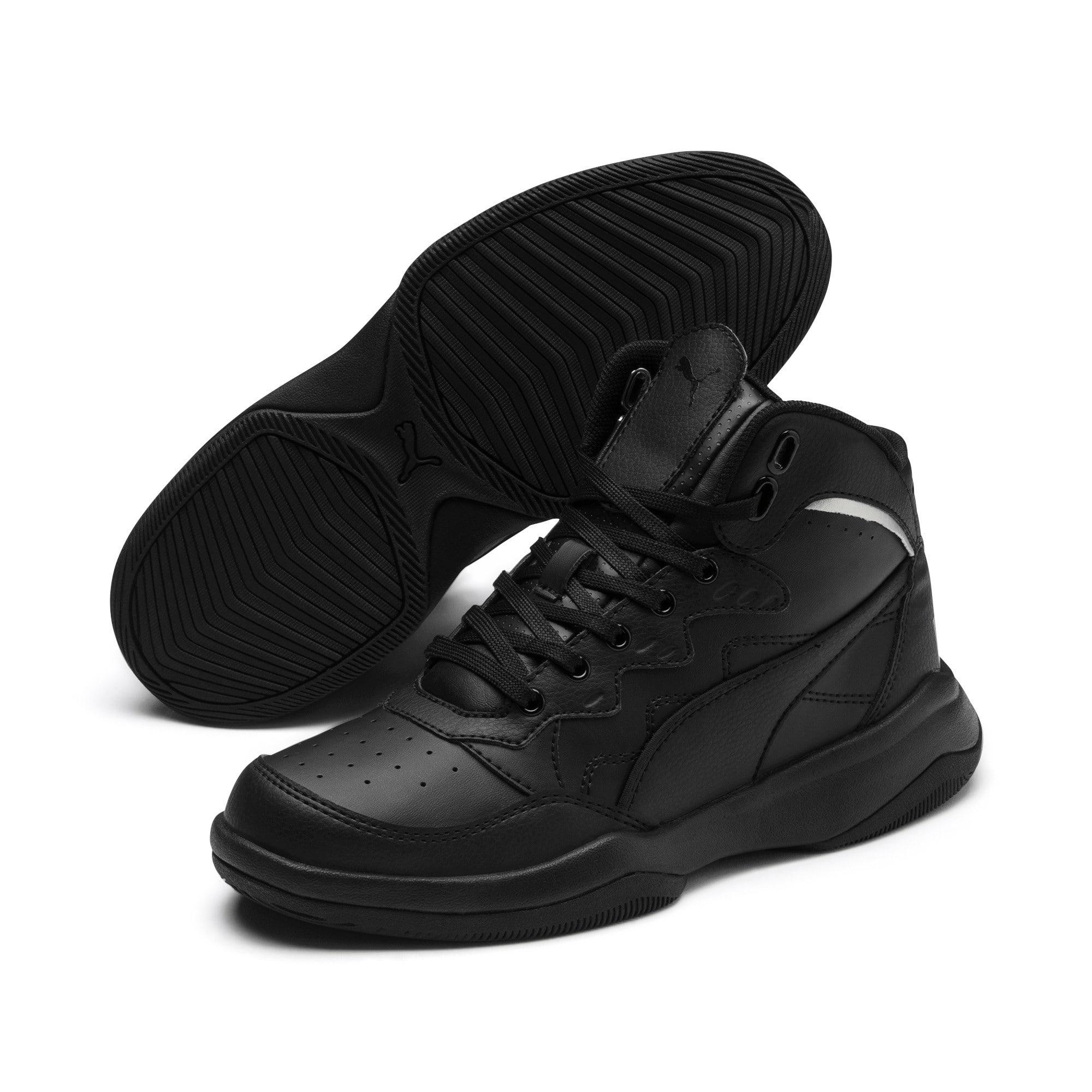 Thumbnail 2 of PUMA Rebound Playoff SL Sneakers JR, Puma Black-Puma Silver, medium
