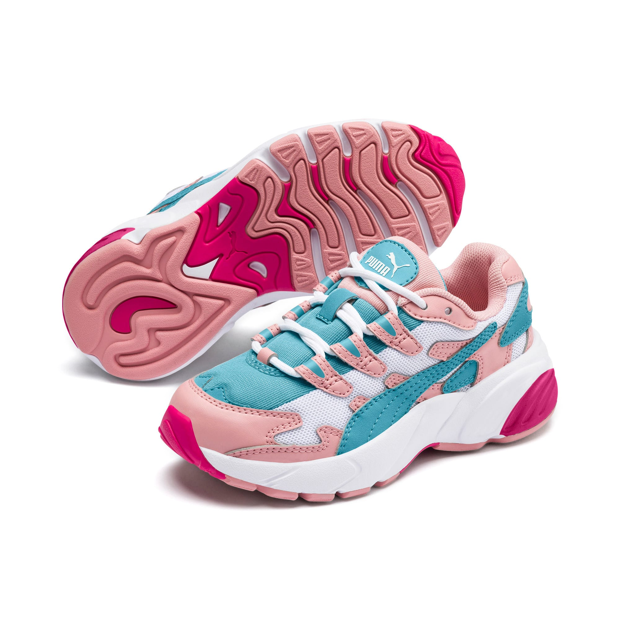 Thumbnail 2 of CELL Alien Cosmic Kids' Trainers, Bridal Rose-Milky Blue, medium