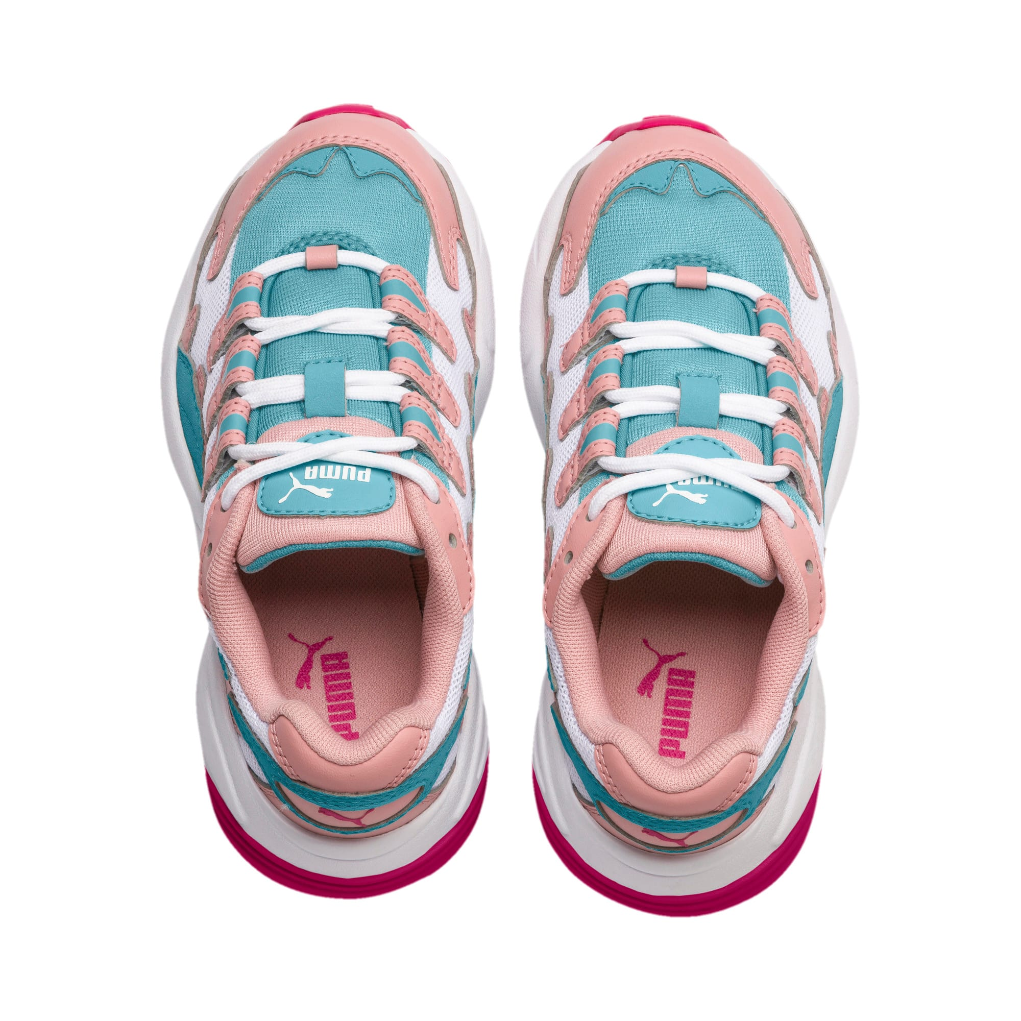 Thumbnail 6 of CELL Alien Cosmic Kids' Trainers, Bridal Rose-Milky Blue, medium