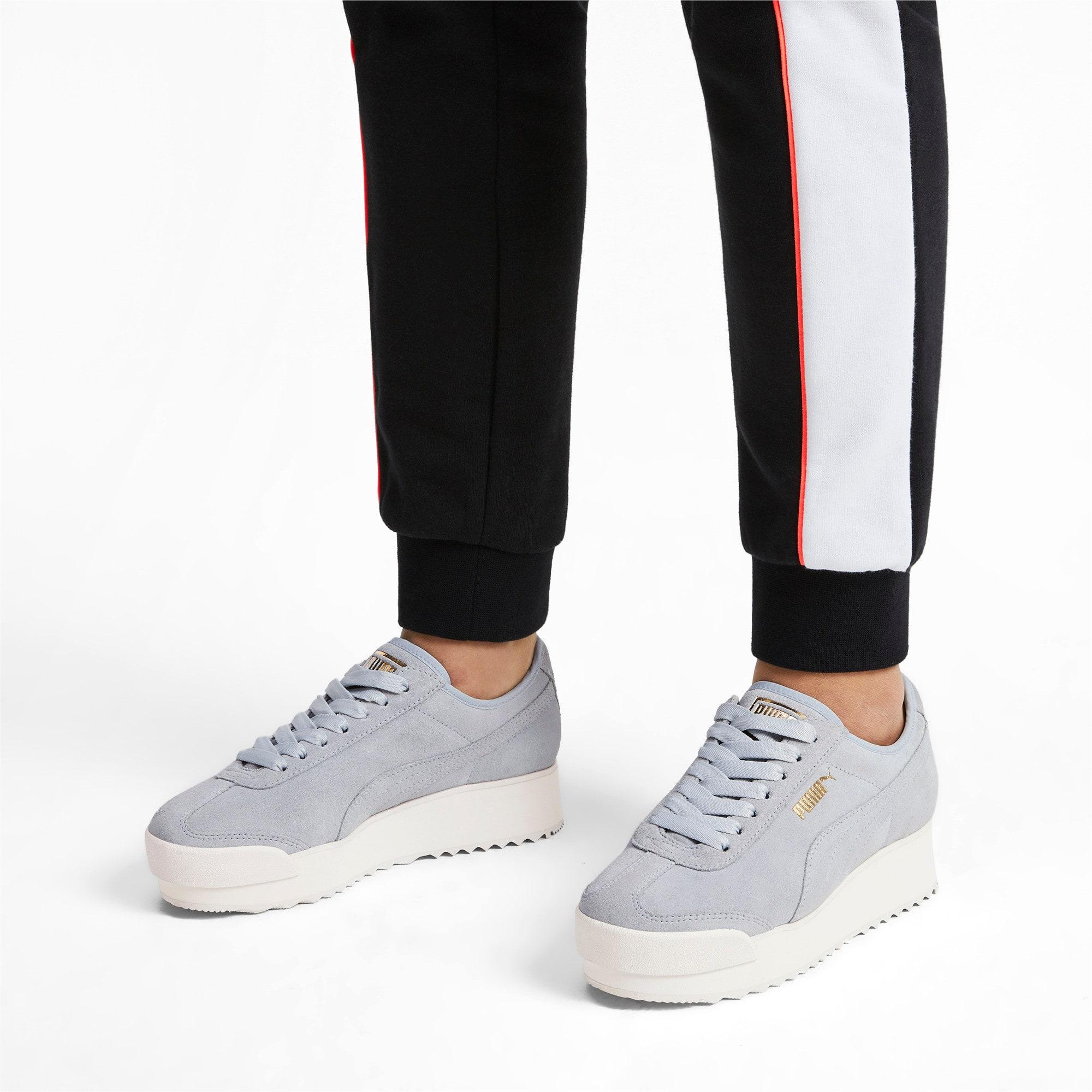 Thumbnail 3 of Roma Amor Suede Women's Sneakers, Heather-Puma Team Gold, medium