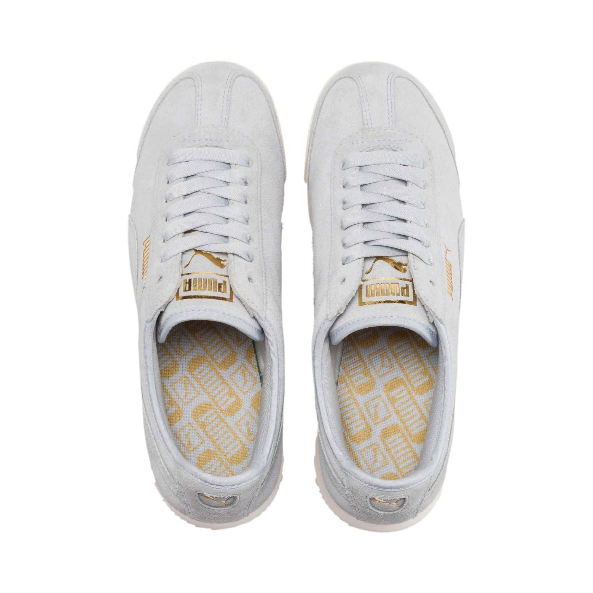 Thumbnail 7 of Roma Amor Suede Women's Sneakers, Heather-Puma Team Gold, medium