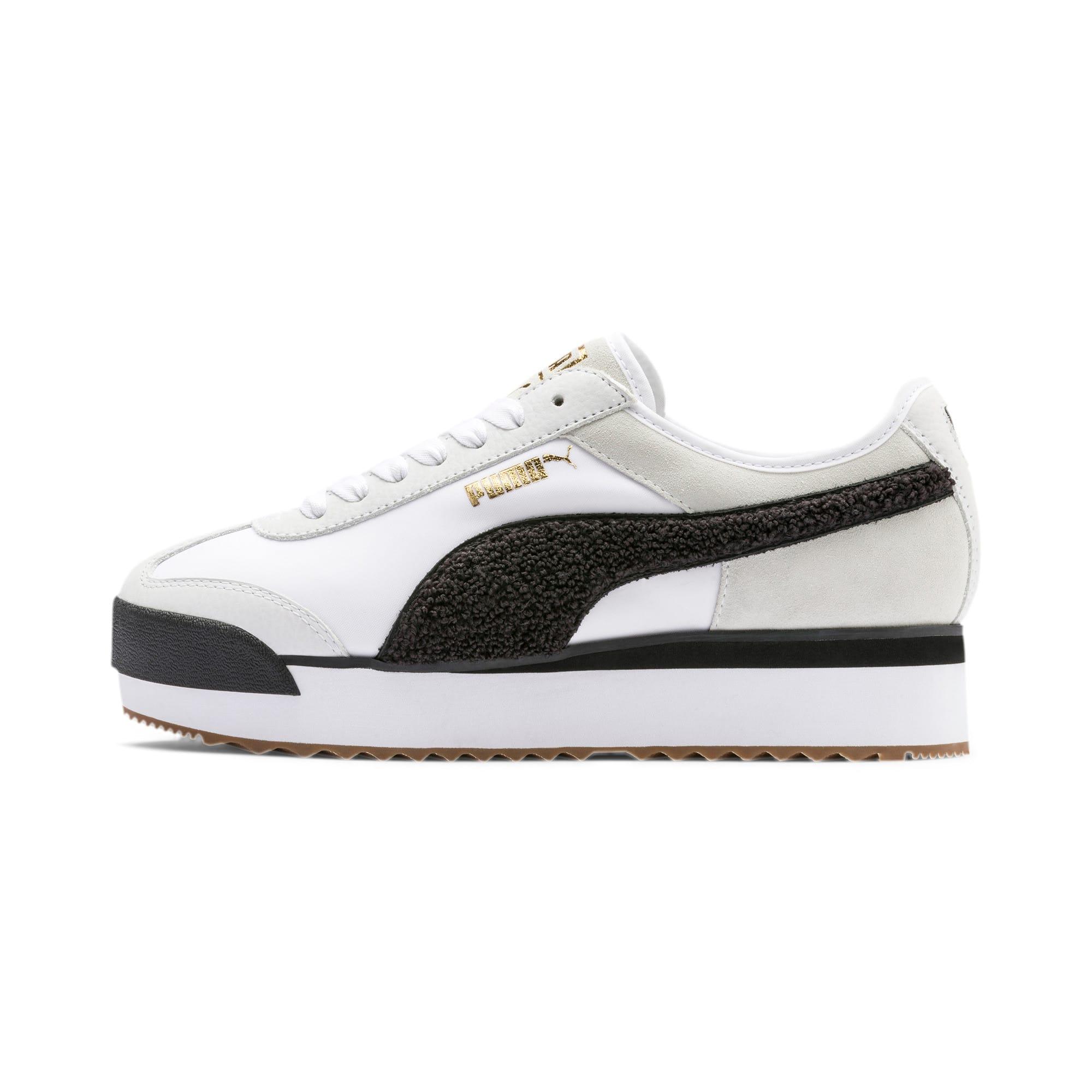 Thumbnail 1 of Roma Amor Heritage Women's Sneakers, Puma White-Puma Black, medium