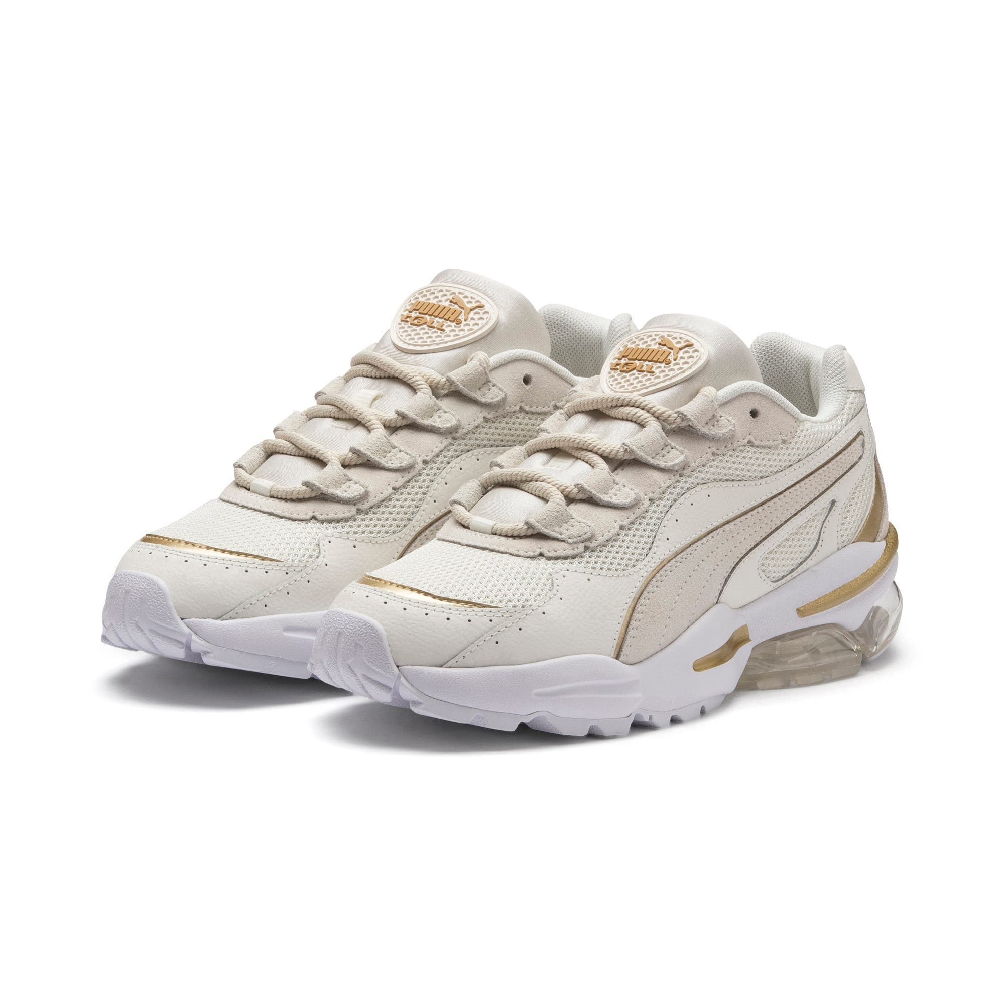 Thumbnail 3 of CELL Stellar Soft sportschoenen voor dames, Puma White-Puma Team Gold, medium