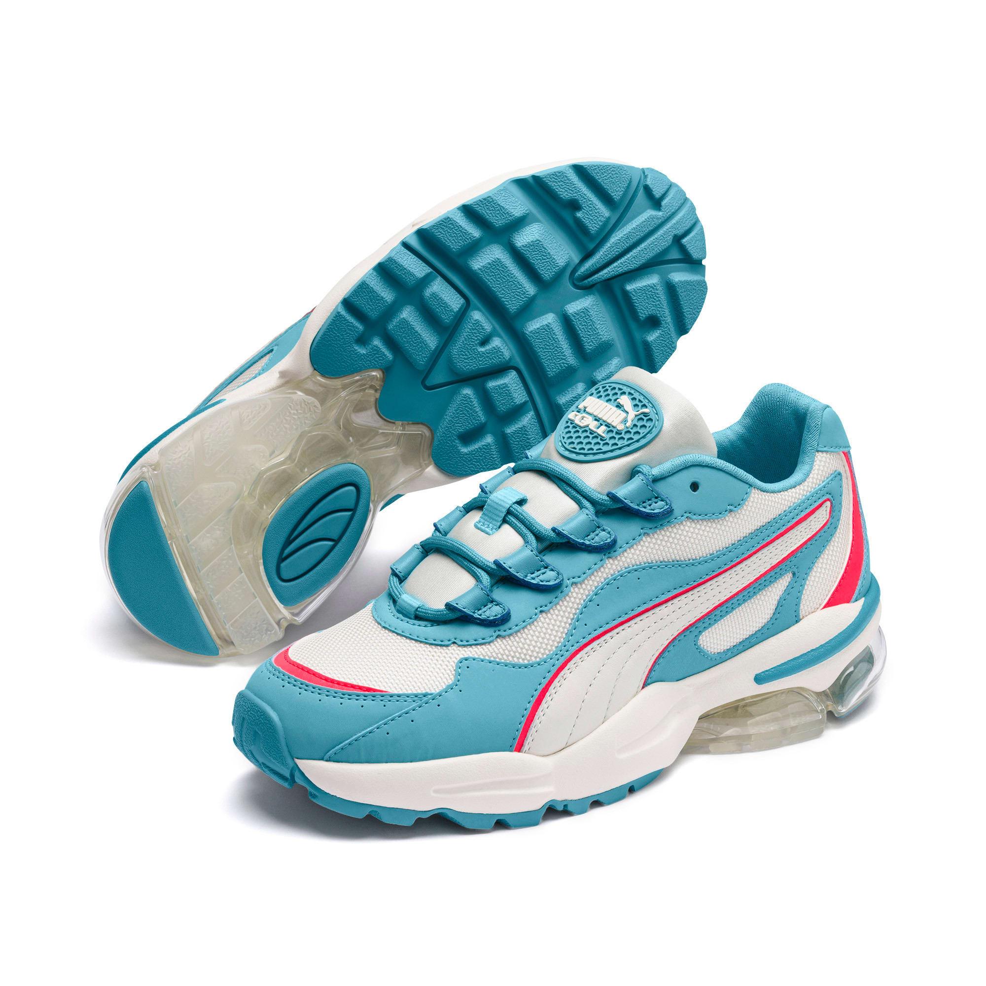 Thumbnail 3 of CELL Stellar Damen Sneaker, Milky Blue-Puma Team Gold, medium
