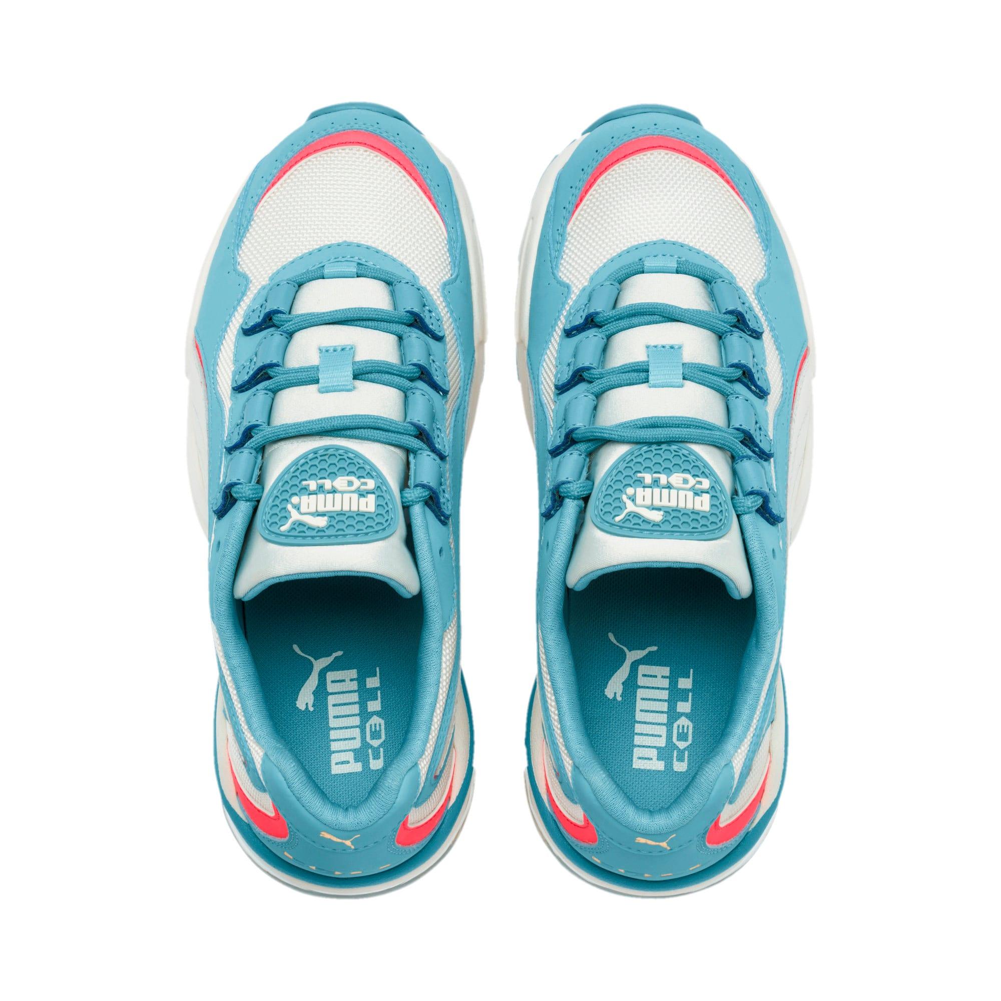 Thumbnail 7 of CELL Stellar Damen Sneaker, Milky Blue-Puma Team Gold, medium
