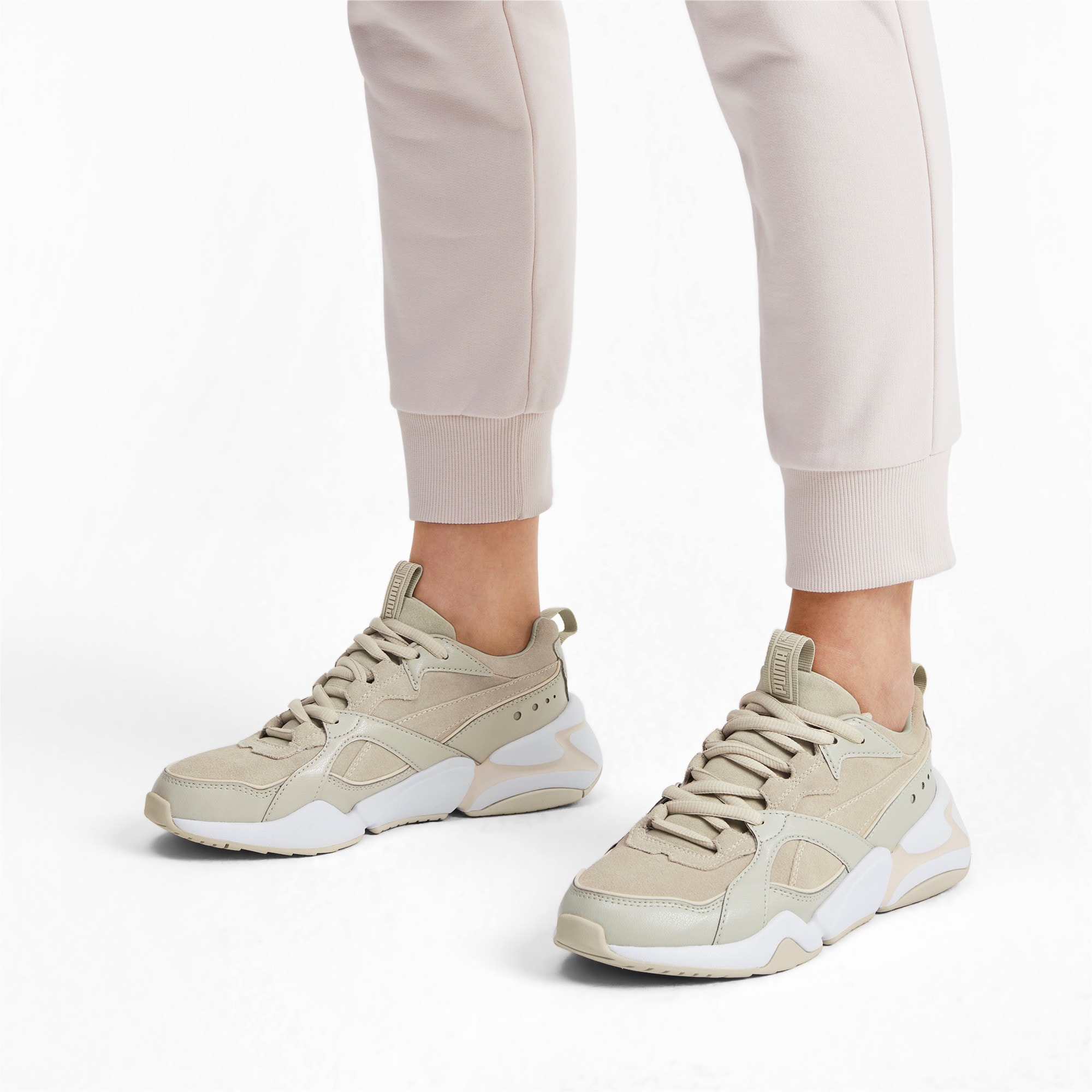 Nova 2 Suede Women's Sneakers, Overcast-White Smoke, large
