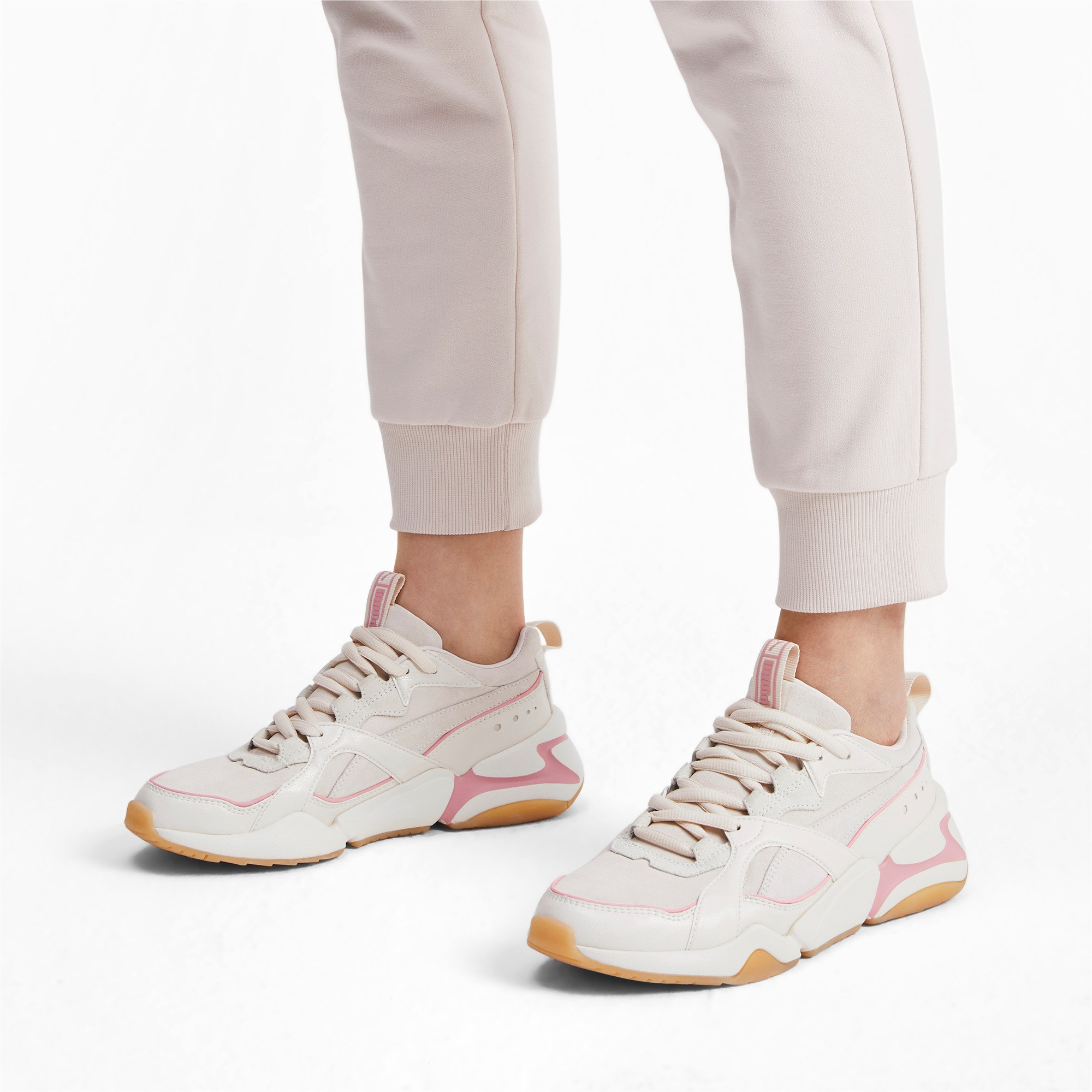 Thumbnail 2 of Nova 2 Suede Women's Trainers, Pastel Parchment-Whisp White, medium