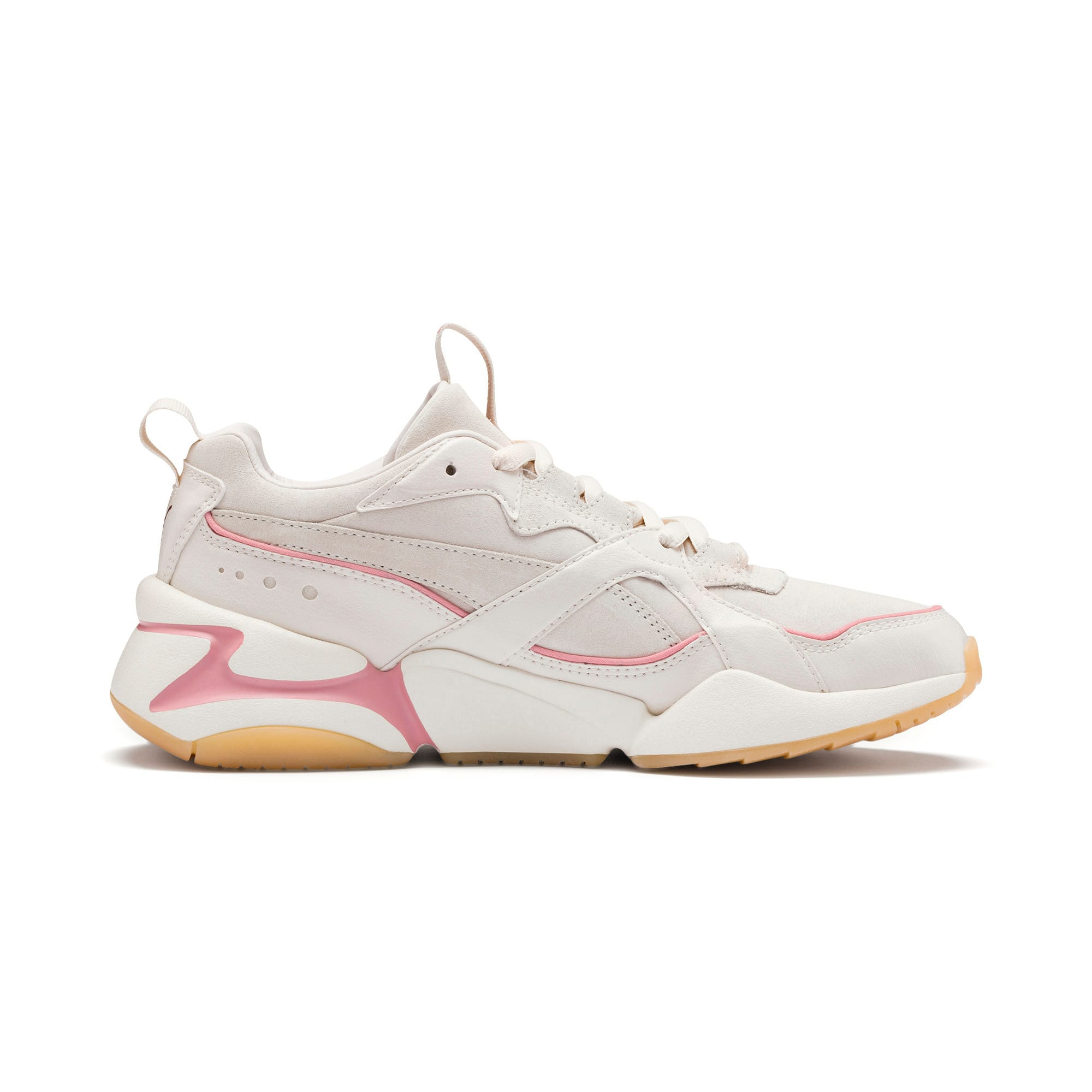 Thumbnail 6 of Nova 2 Suede Women's Trainers, Pastel Parchment-Whisp White, medium