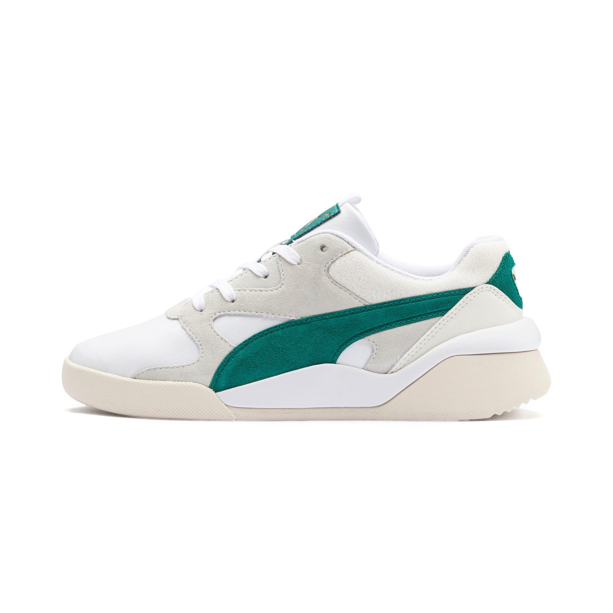 Thumbnail 1 of Aeon Heritage Women's Sneakers, Puma White-Teal Green, medium