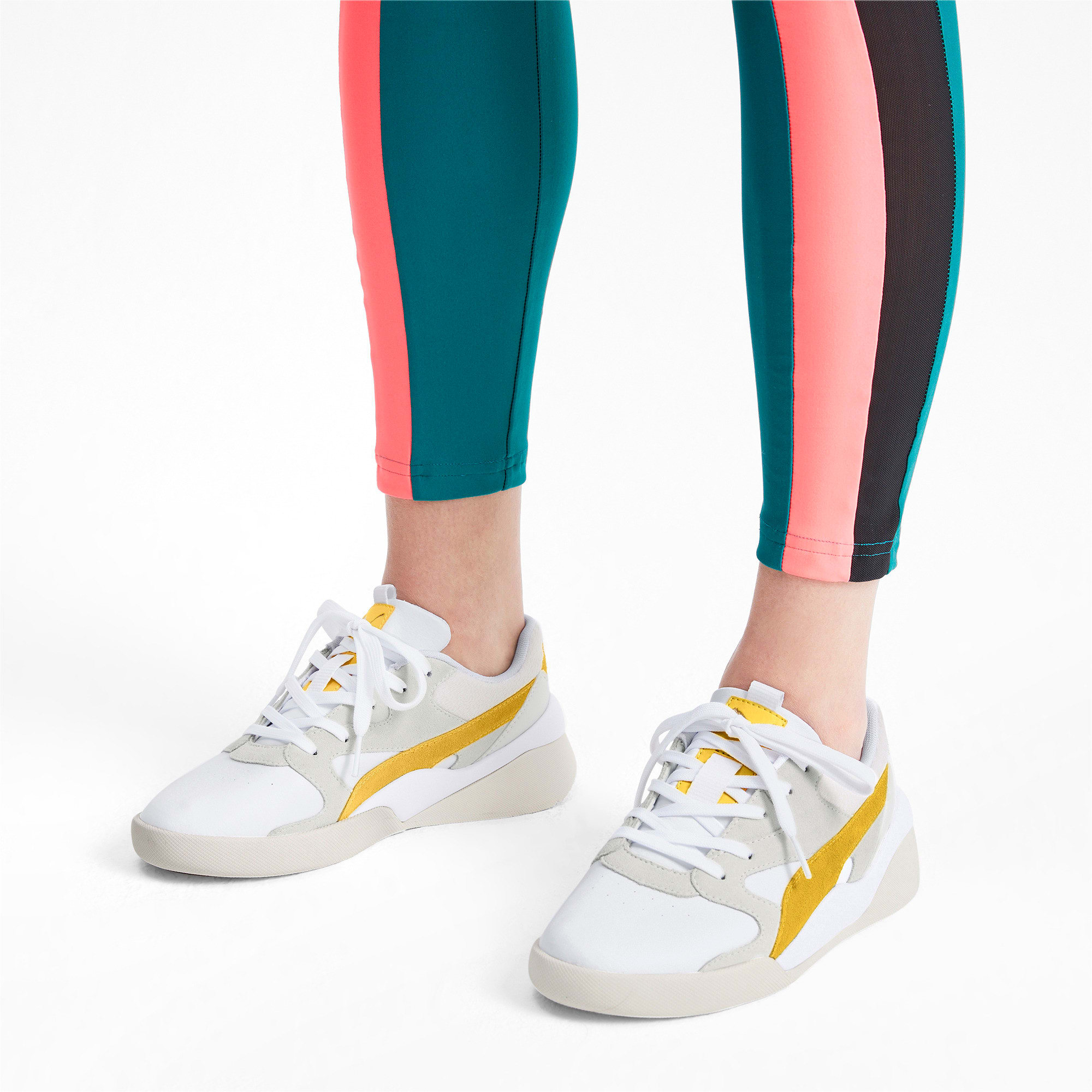 Thumbnail 2 of Aeon Heritage Women's Sneakers, Puma White-Sulphur, medium