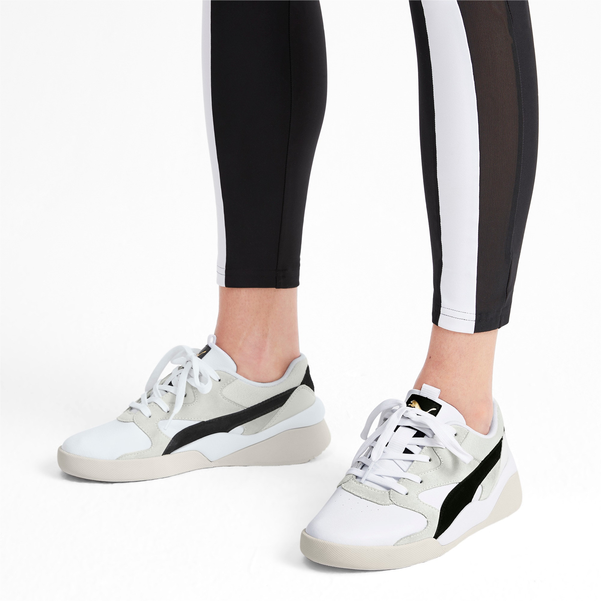 Thumbnail 2 of Aeon Heritage Women's Sneakers, Puma White-Puma Black, medium