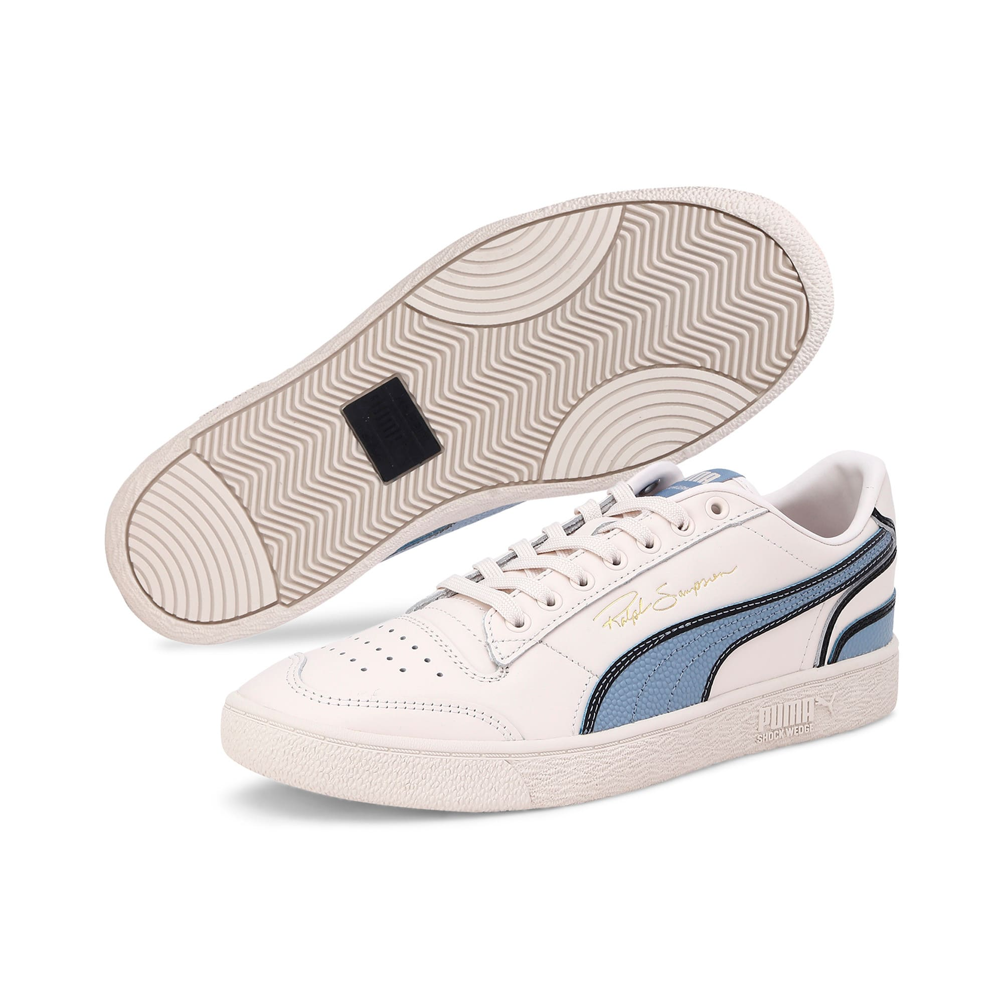 Thumbnail 4 of Ralph Sampson Lo Hoops Trainers, Pastel-Faded Denim-Pastel, medium-IND