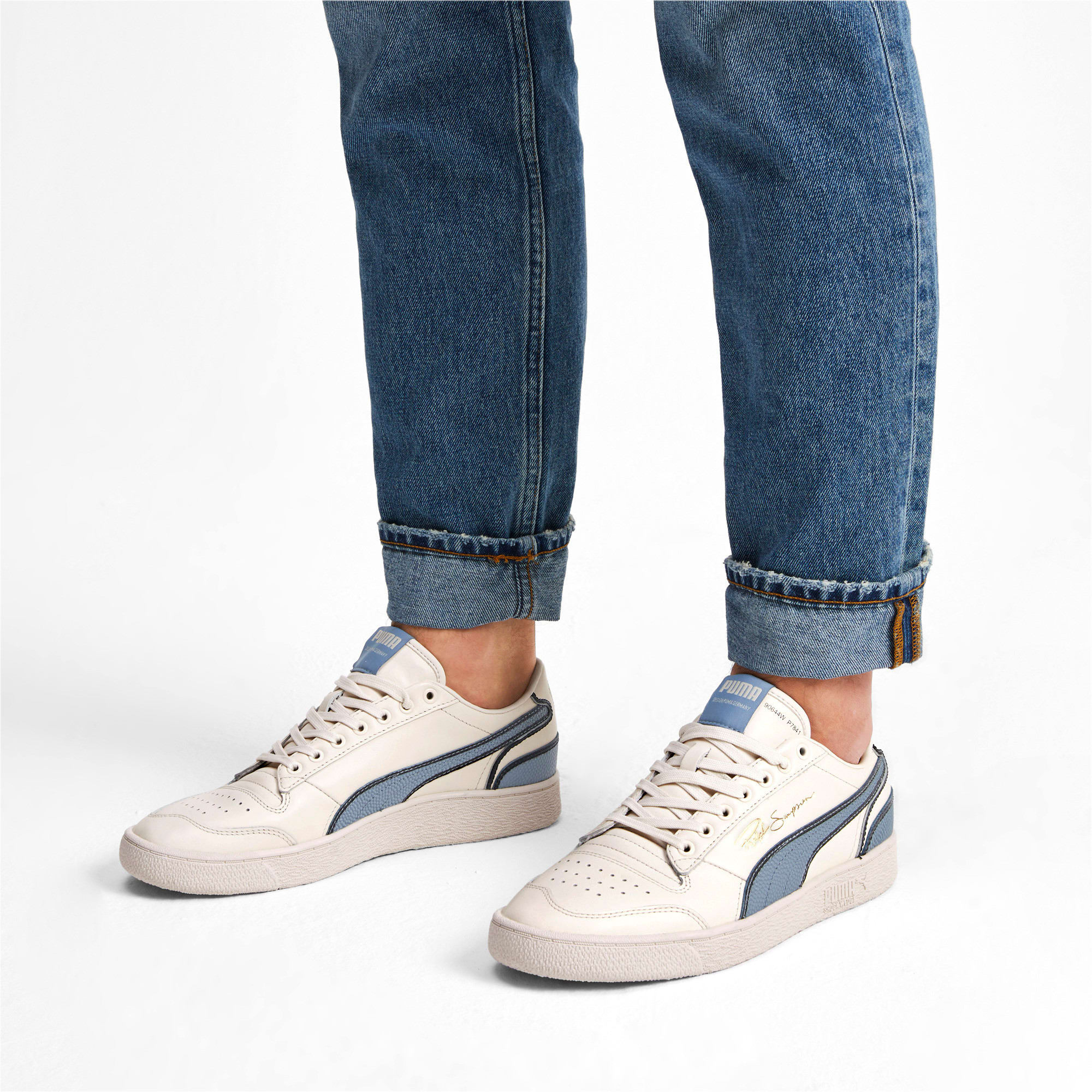 Thumbnail 3 of Ralph Sampson Lo Hoops Trainers, Pastel-Faded Denim-Pastel, medium-IND