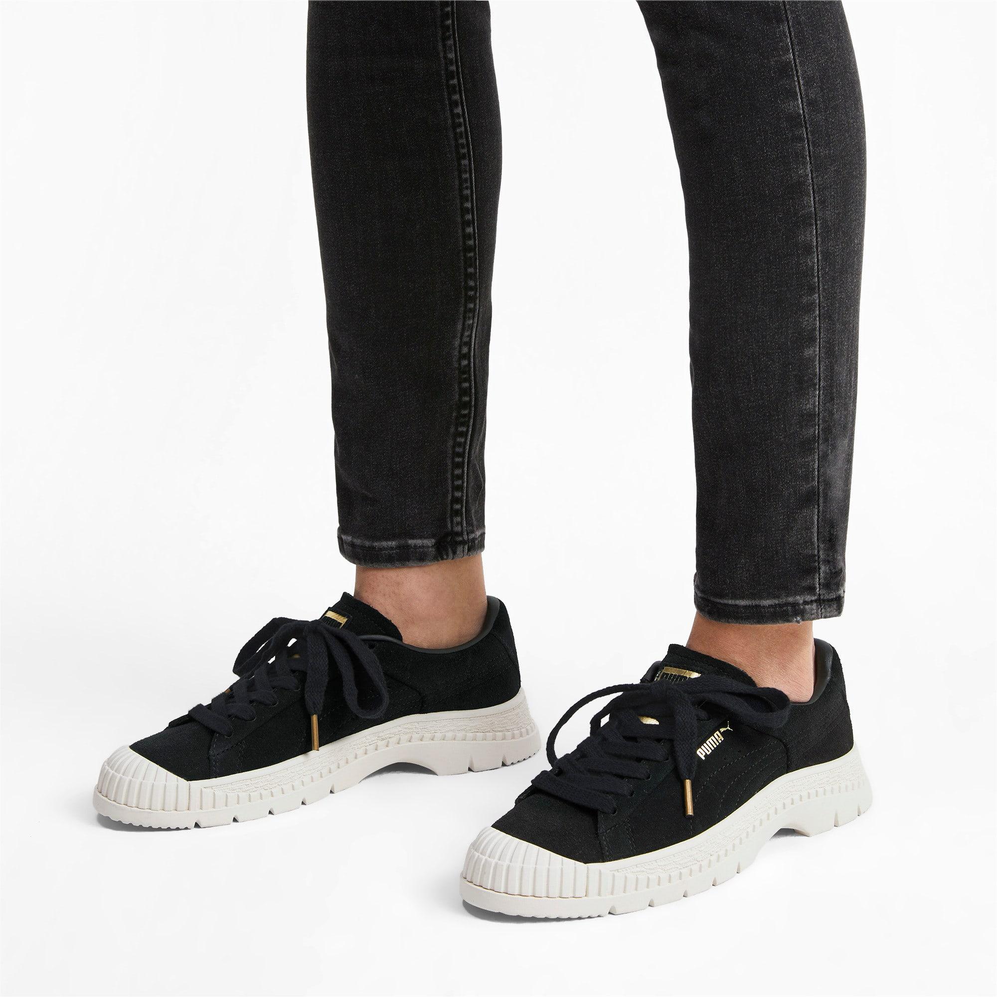 Thumbnail 3 of Utility Suede Women's Sneakers, Puma Black, medium