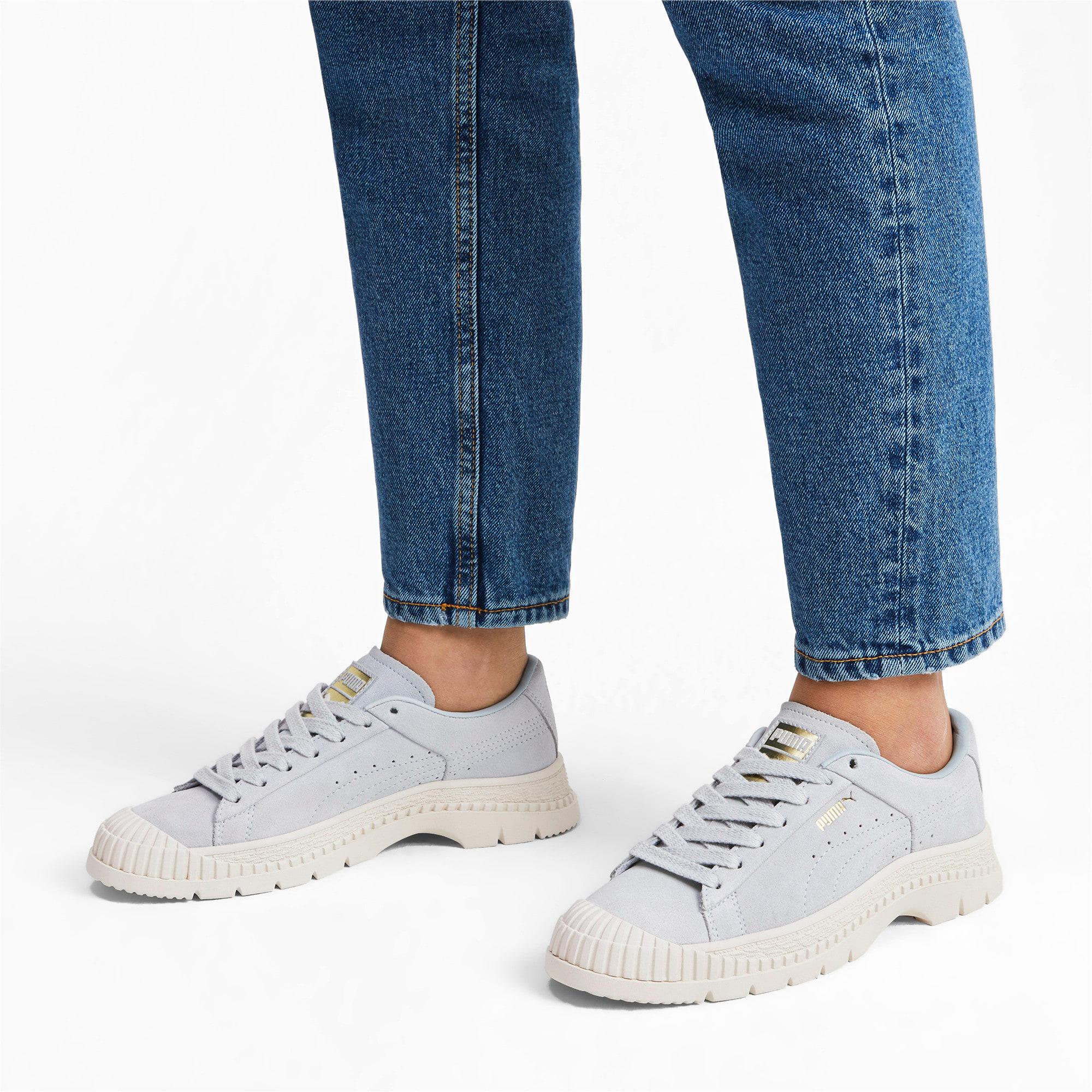 Thumbnail 2 of Utility Suede Women's Sneakers, Heather, medium