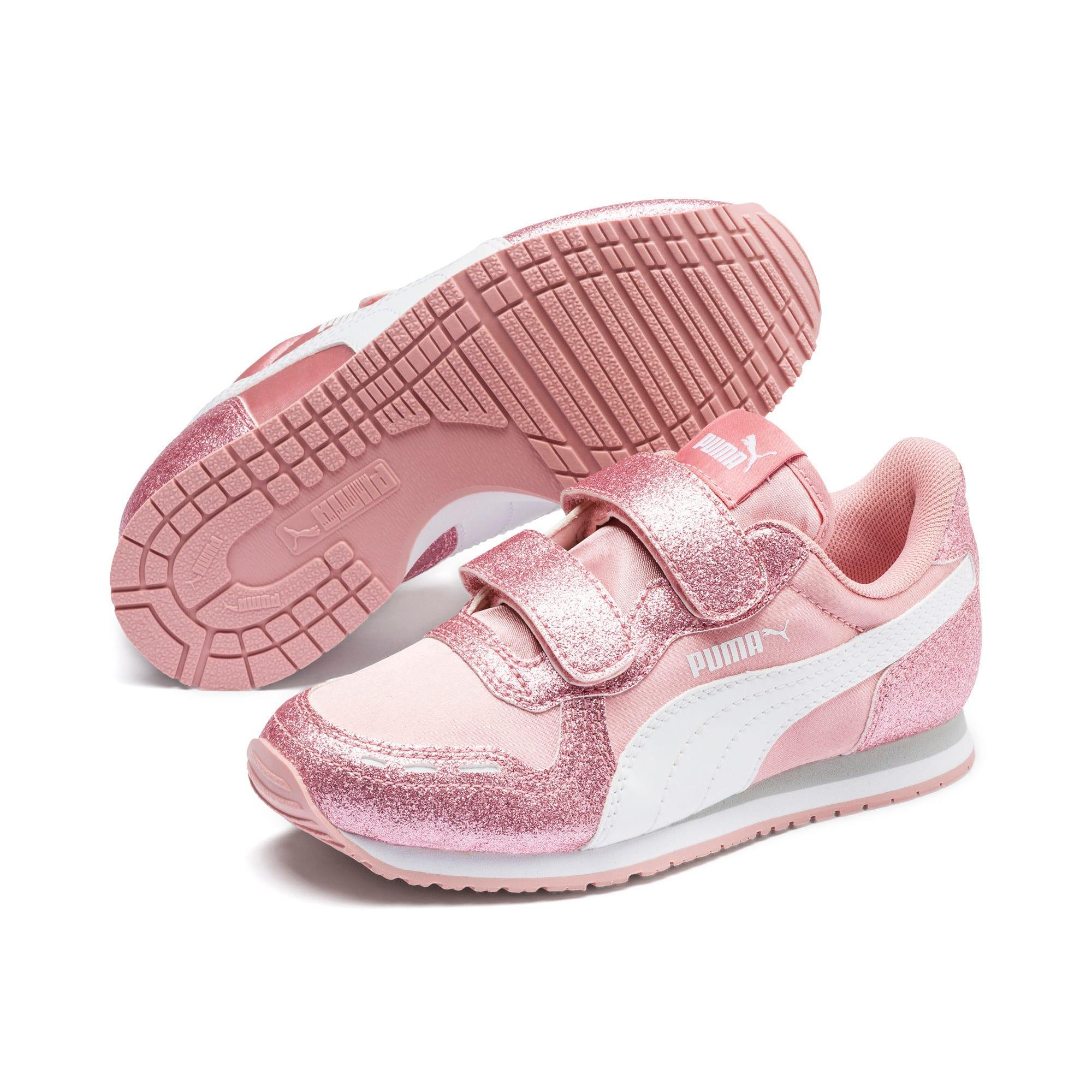 Thumbnail 2 of Cabana Racer Glitz AC Shoes PS, Bridal Rose-Puma White, medium