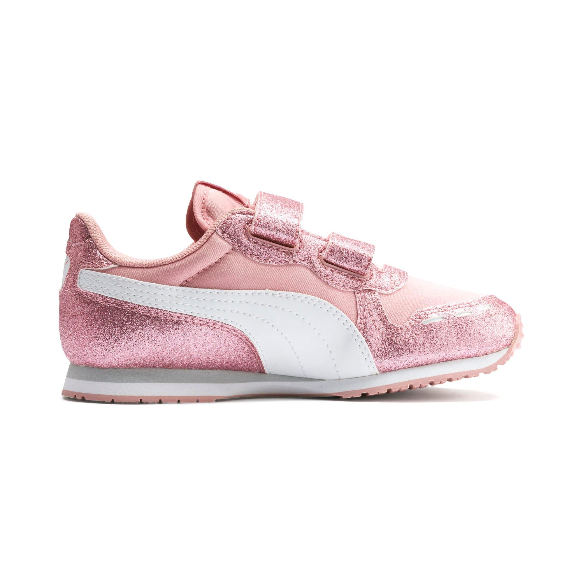 Thumbnail 5 of Cabana Racer Glitz AC Shoes PS, Bridal Rose-Puma White, medium