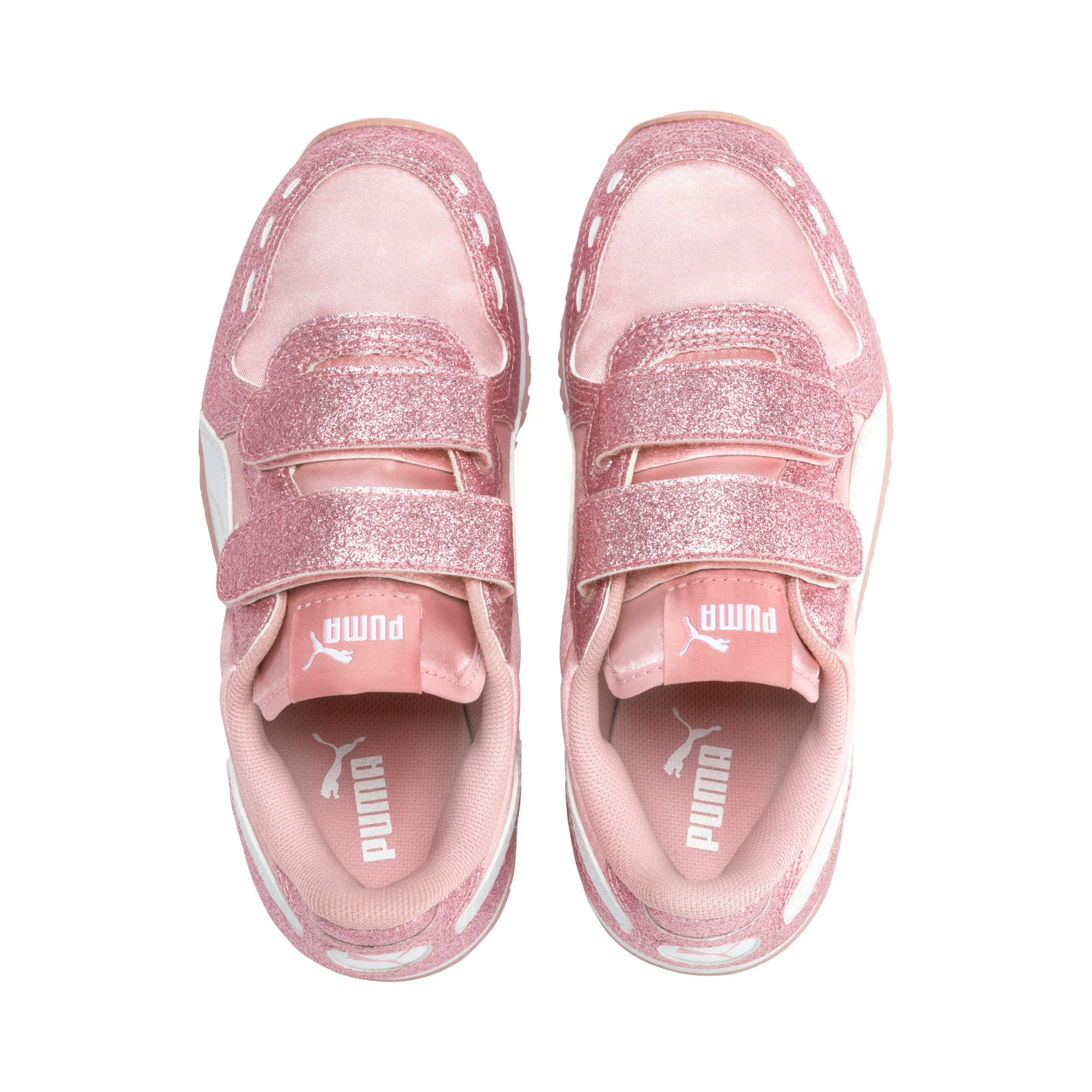 Thumbnail 6 of Cabana Racer Glitz AC Shoes PS, Bridal Rose-Puma White, medium