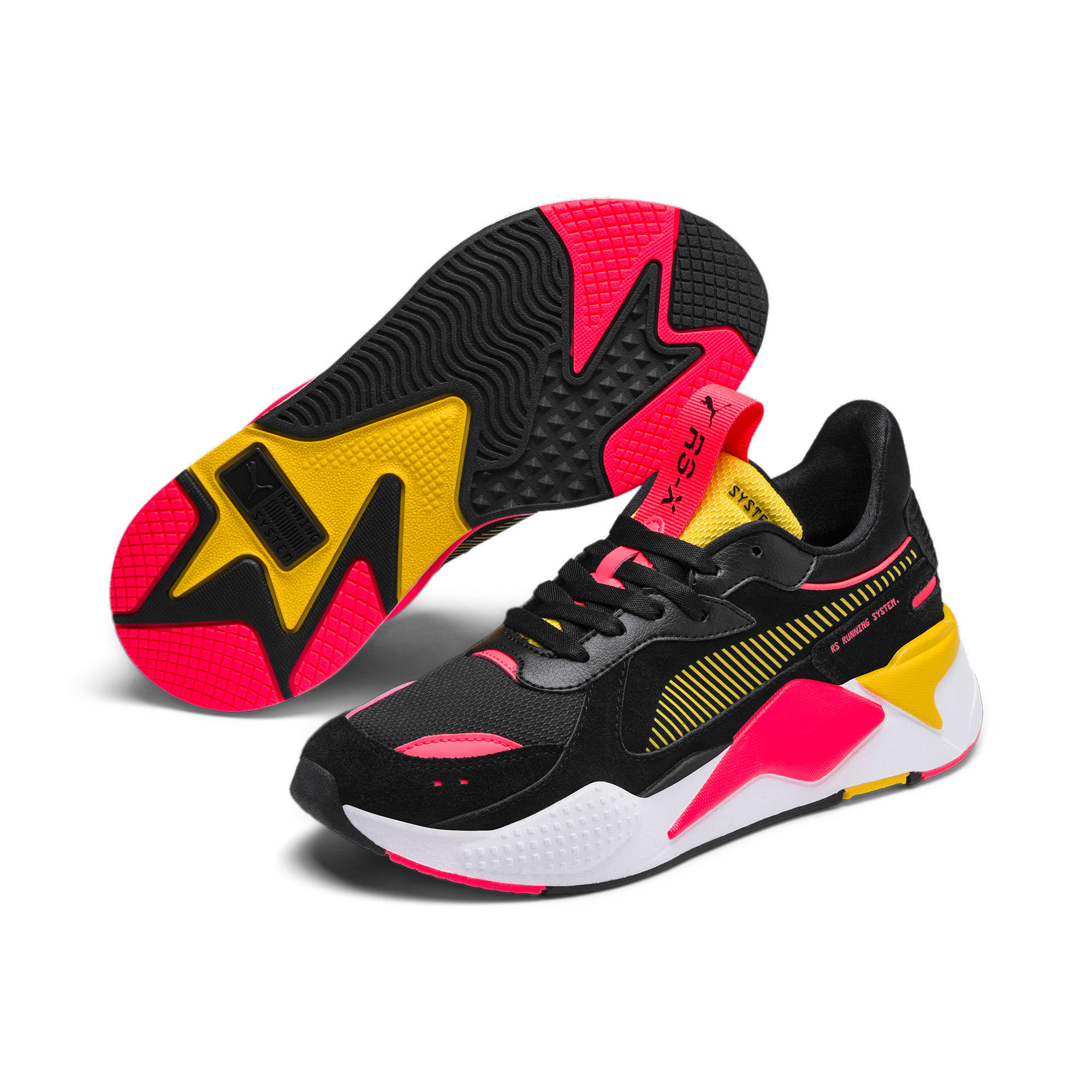 Thumbnail 3 of RS-X Reinvent Women's Trainers, Puma Black-Sulphur, medium