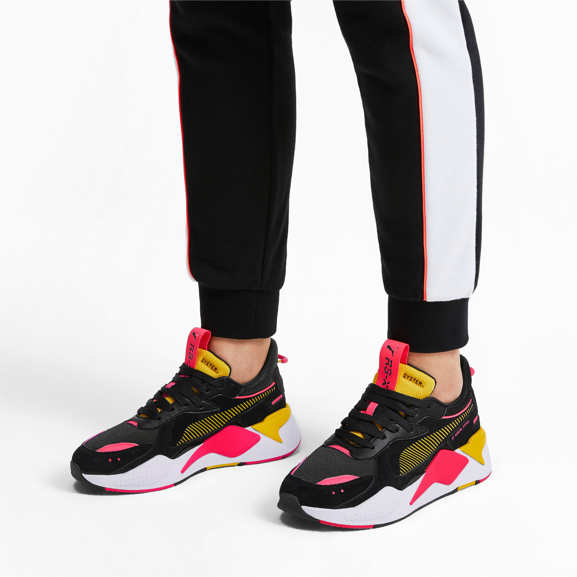 Thumbnail 2 of RS-X Reinvent Women's Trainers, Puma Black-Sulphur, medium
