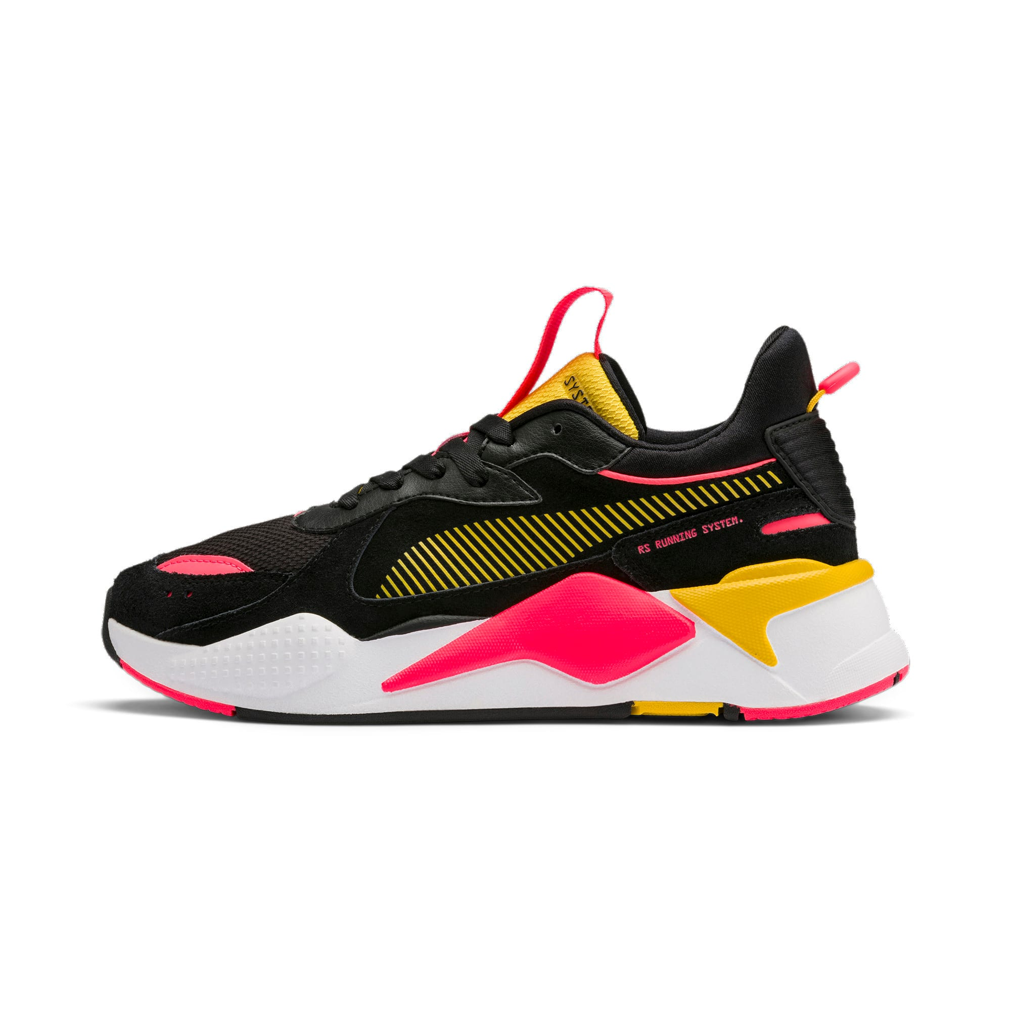 Thumbnail 1 of RS-X Reinvent Women's Trainers, Puma Black-Sulphur, medium