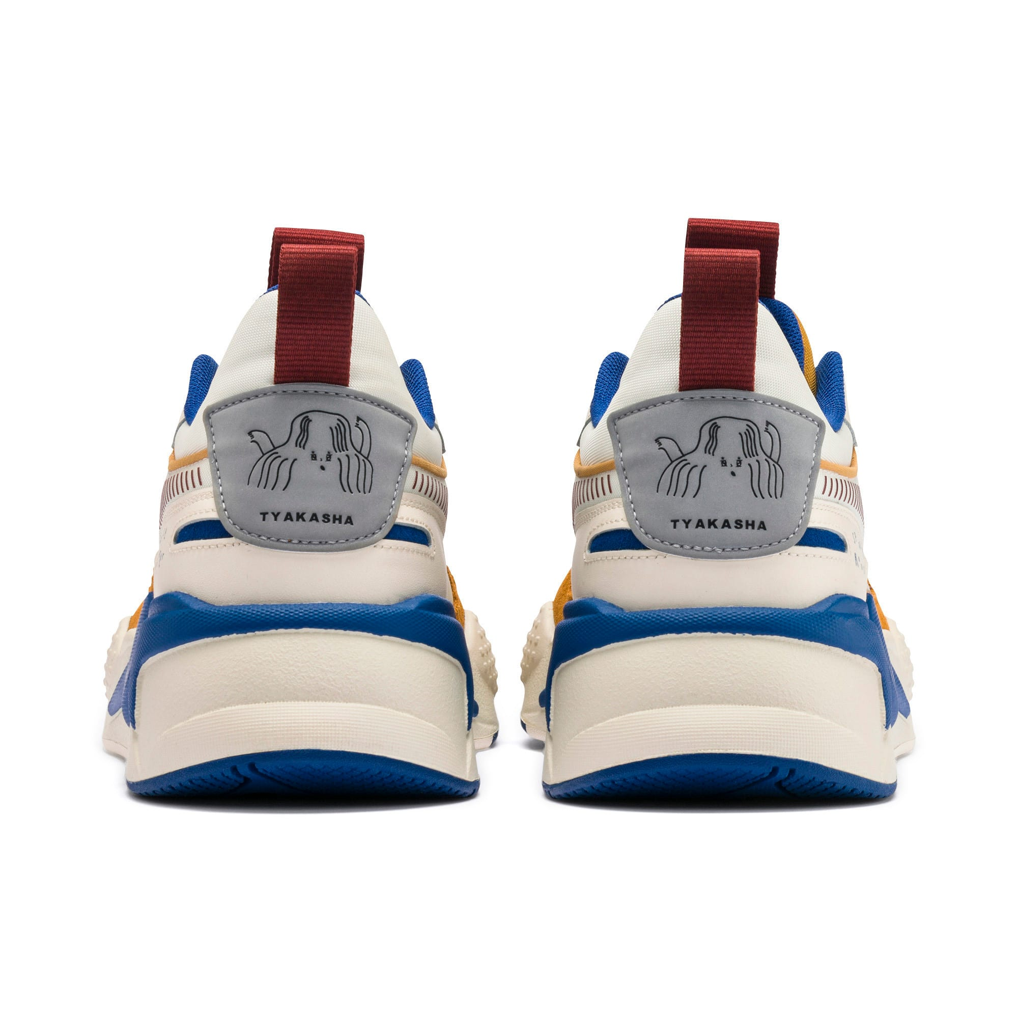 Thumbnail 5 of PUMA x TYAKASHA RS-X Sneakers, Whisper White-Fired Brick, medium