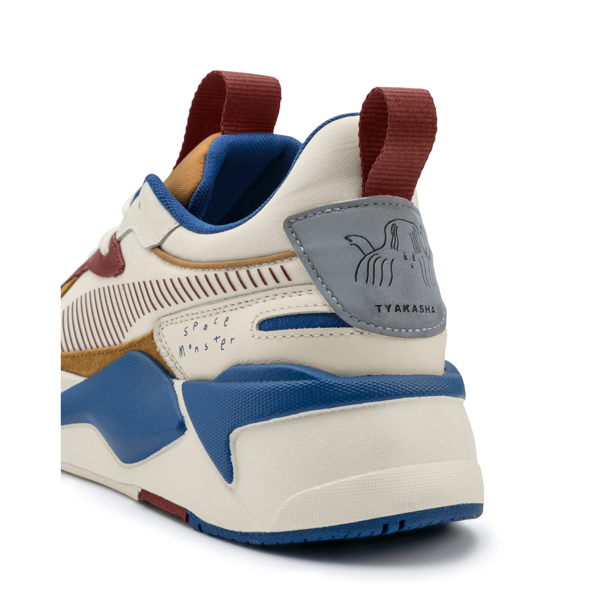 Thumbnail 11 of PUMA x TYAKASHA RS-X Sneakers, Whisper White-Fired Brick, medium