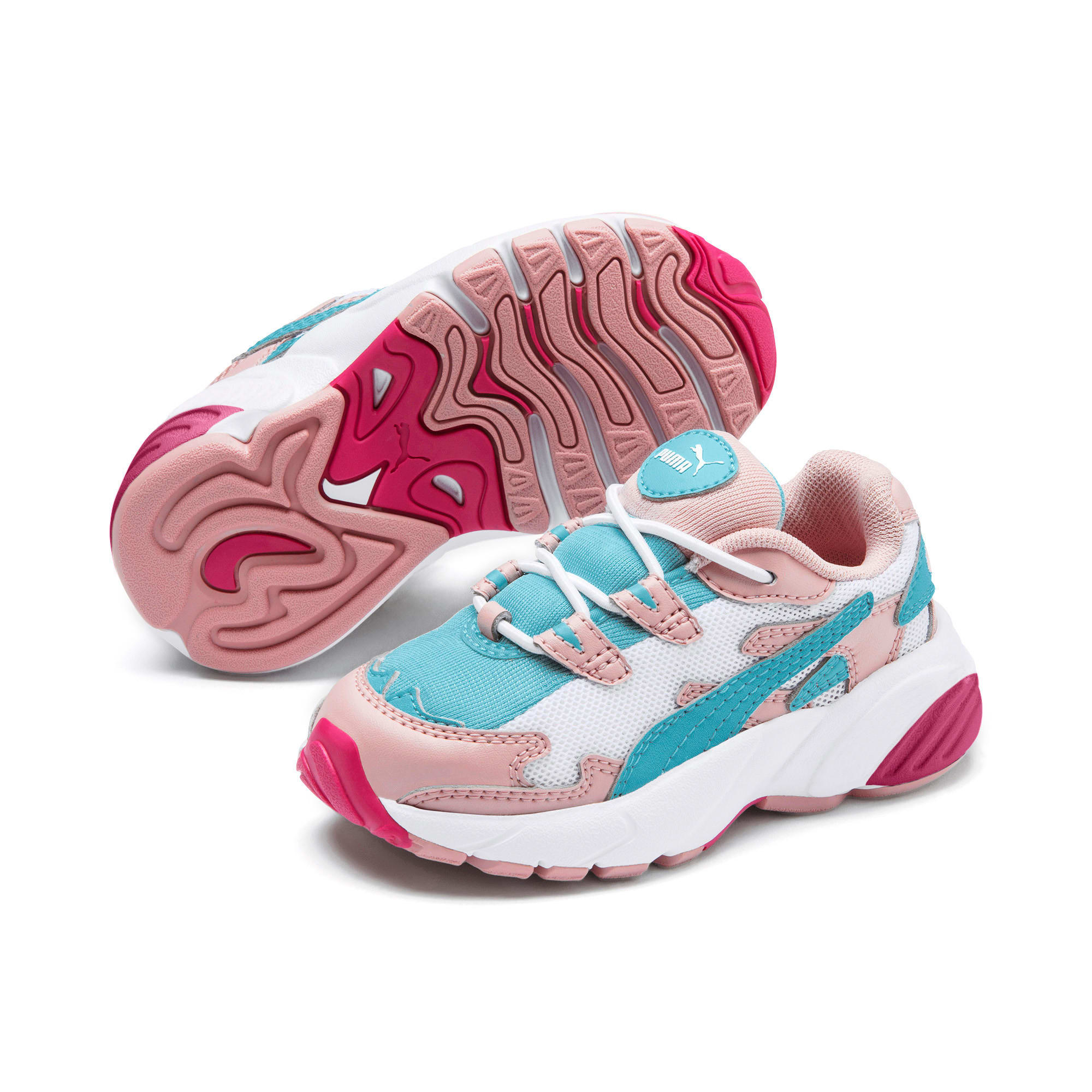 Thumbnail 2 of CELL Alien Cosmic Babies' Trainers, Bridal Rose-Milky Blue, medium