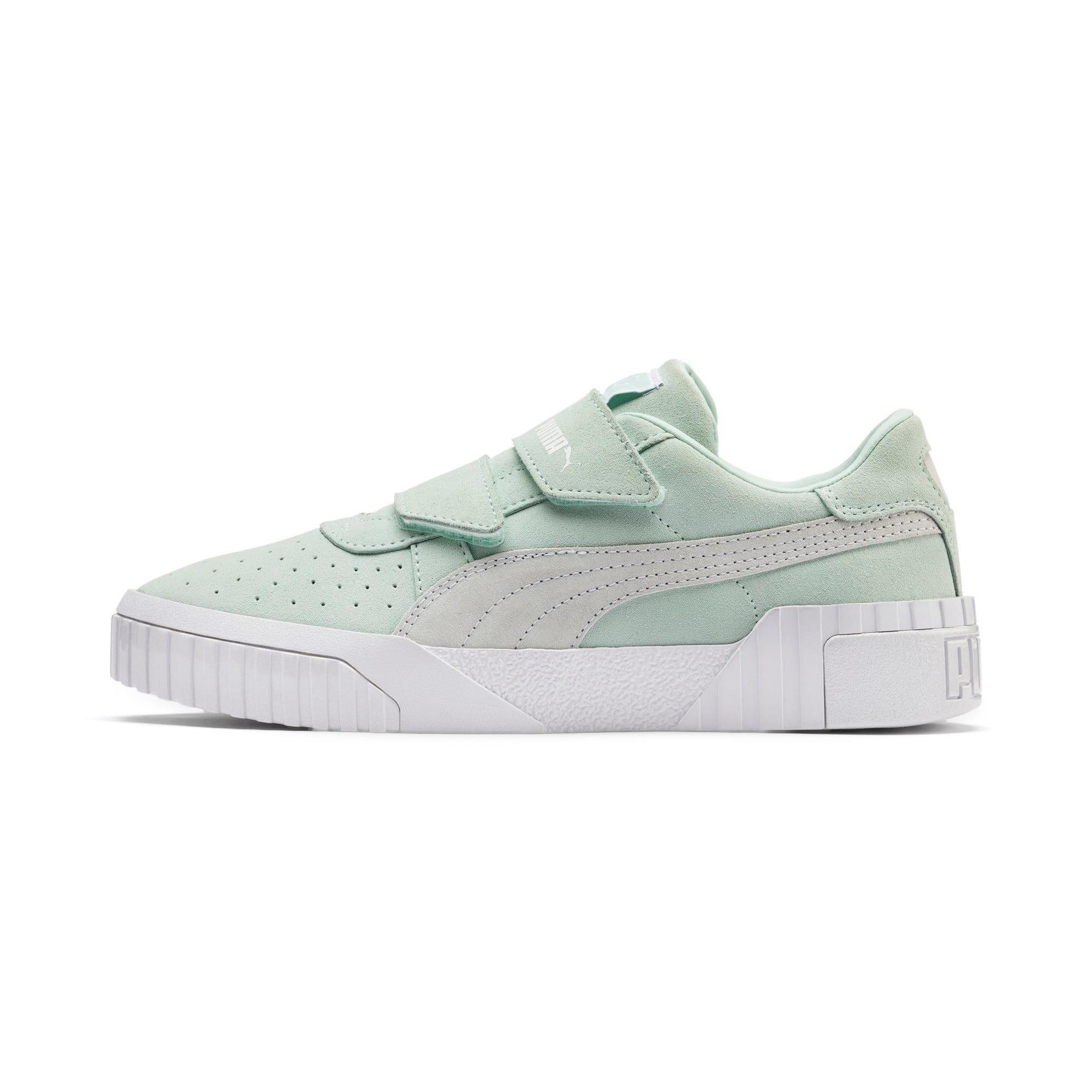 Thumbnail 1 of SG x Cali Suede Women's Sneakers, Fair Aqua-Puma White, medium