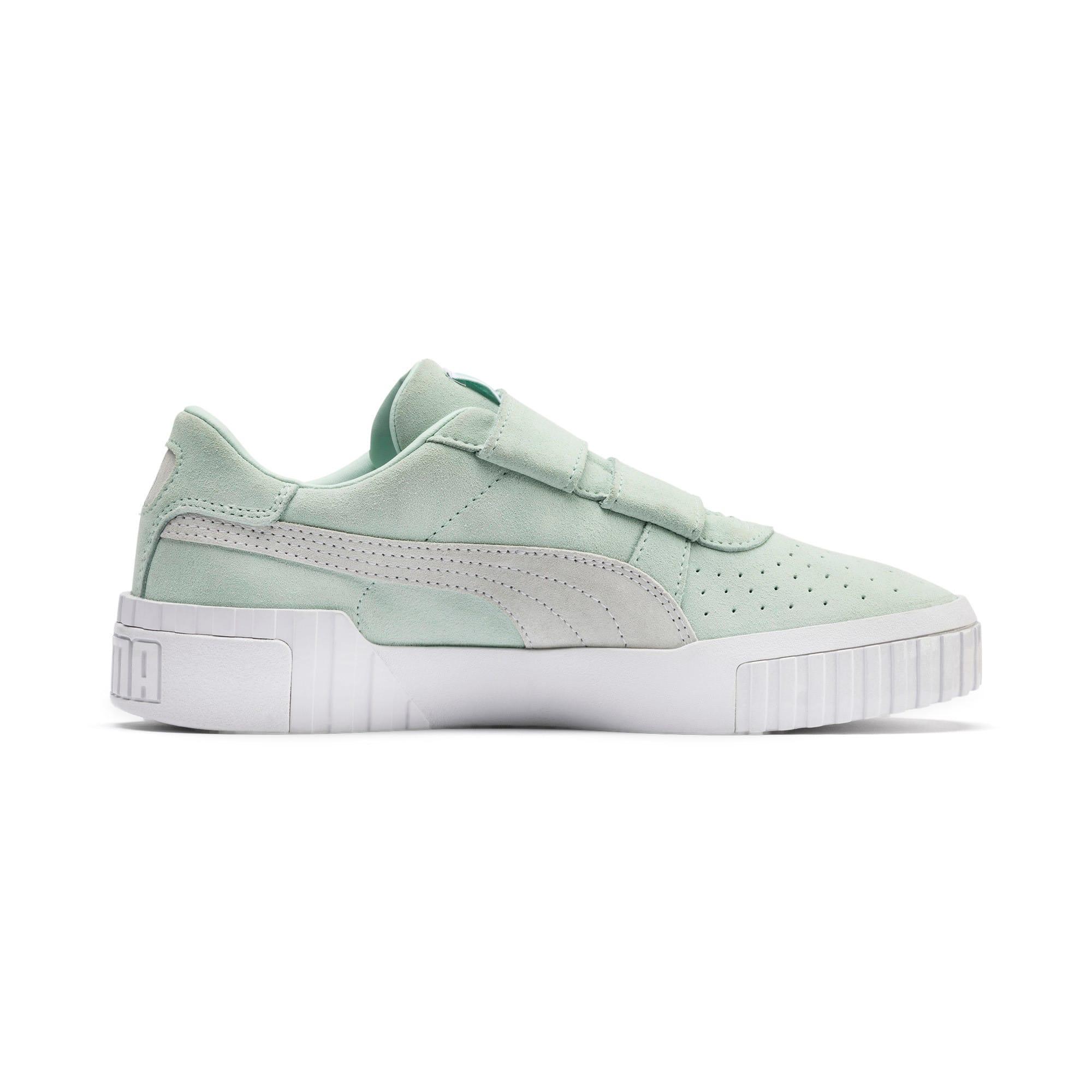 Thumbnail 6 of SG x Cali Suede Women's Sneakers, Fair Aqua-Puma White, medium