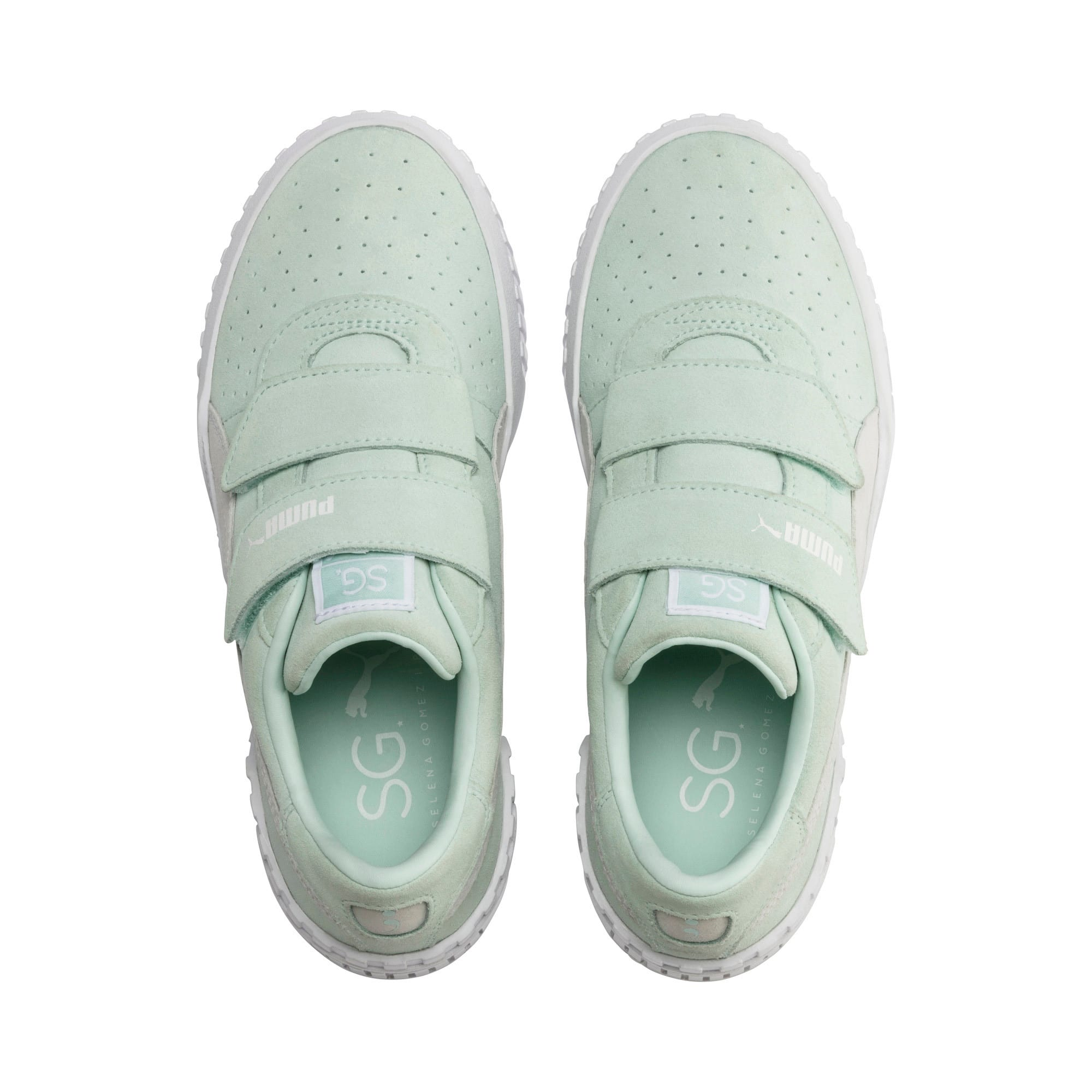 Thumbnail 7 of SG x Cali Suede Women's Sneakers, Fair Aqua-Puma White, medium
