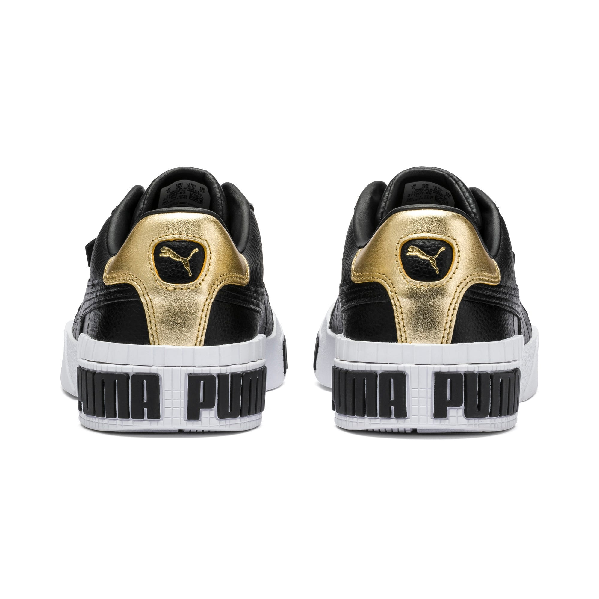 Thumbnail 3 of Cali Bold Metallic sportschoenen voor dames, Puma Black-Gold, medium