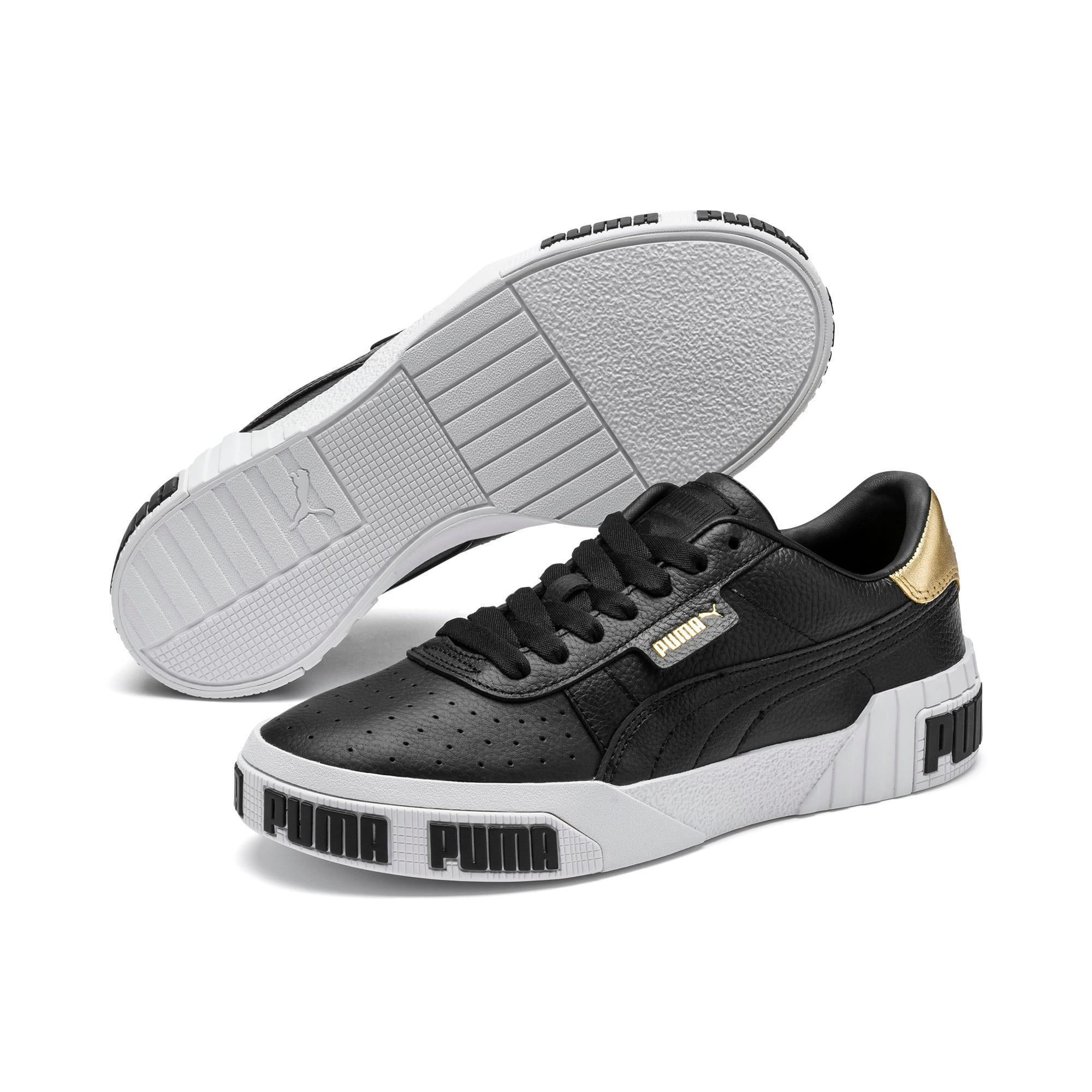 Thumbnail 2 of Cali Bold Metallic sportschoenen voor dames, Puma Black-Gold, medium